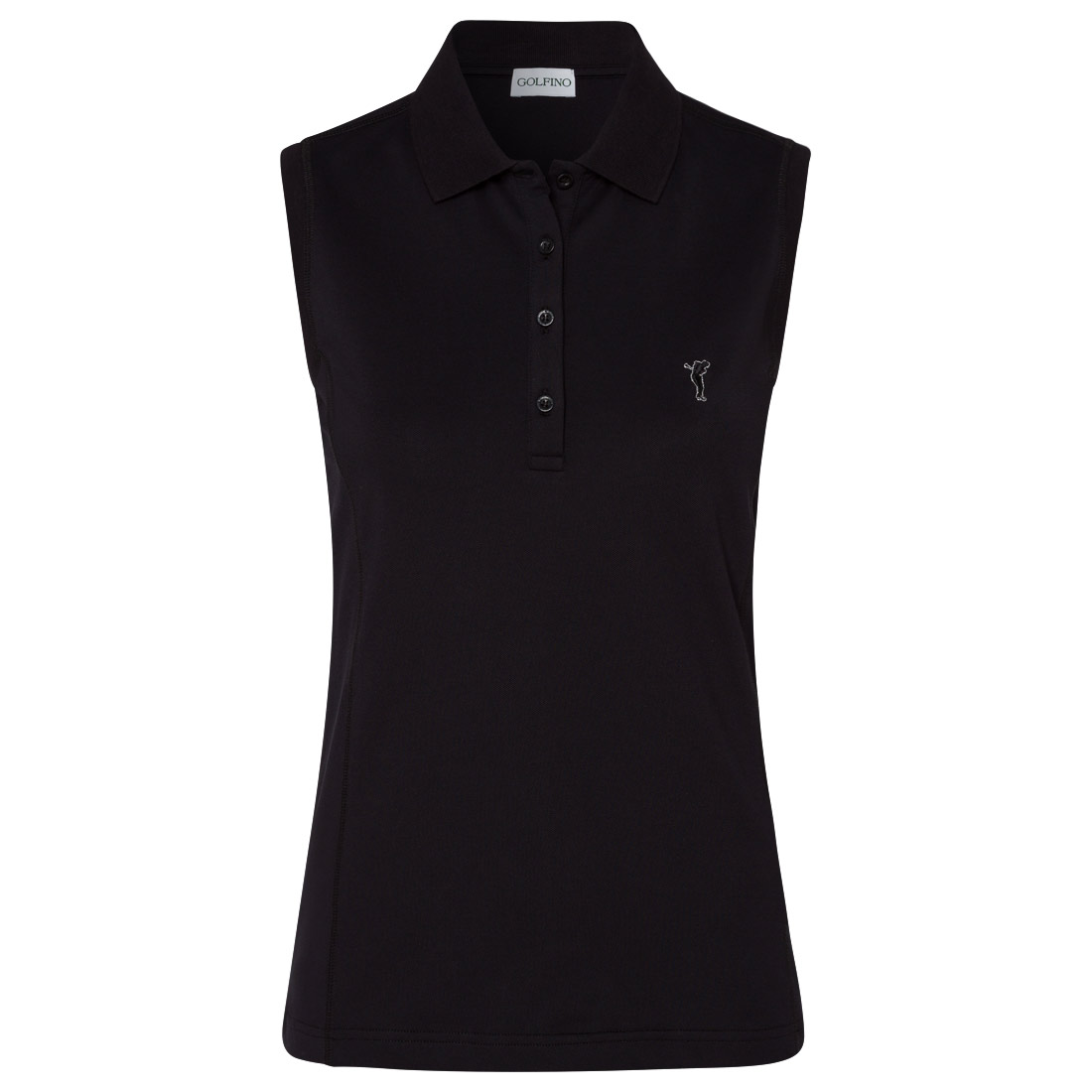 Sleeveless ladies' golf polo shirt with sun protection function