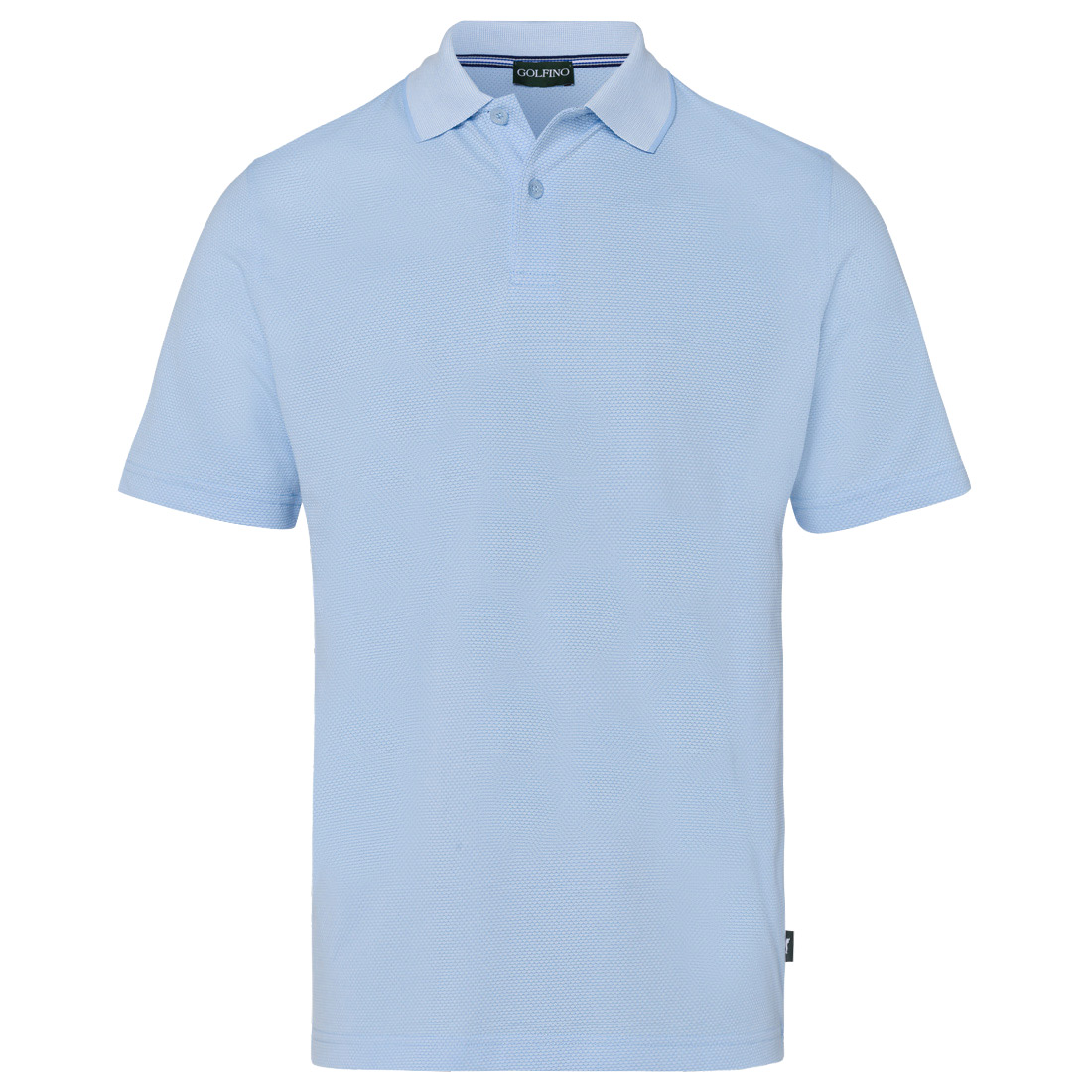 Herren Golfpolo aus feuchtigkeitsregulierendem Bubble Jacquard