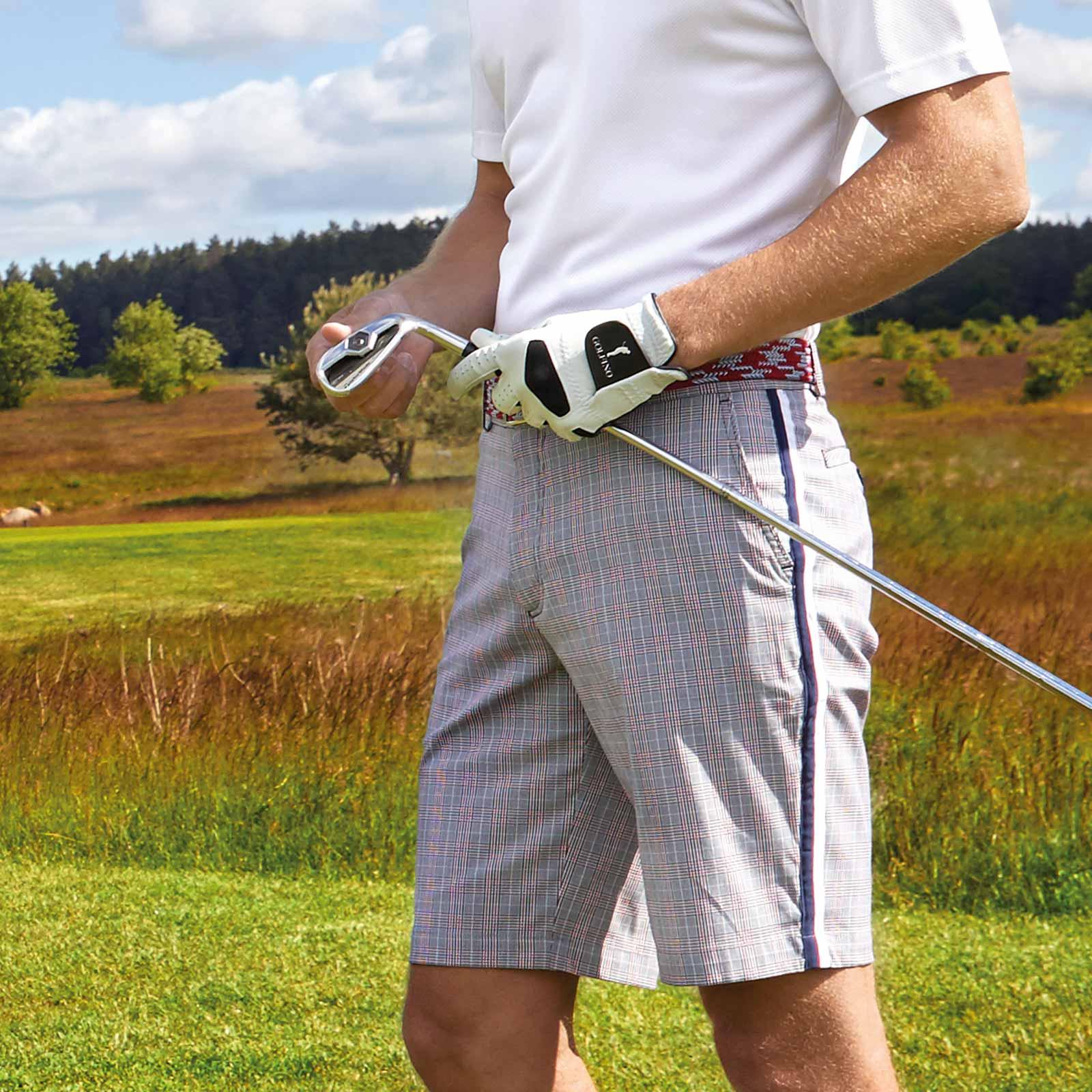 Herren Golf-Bermuda Extra Stretch Komfort aus kariertem Baumwoll-Mix