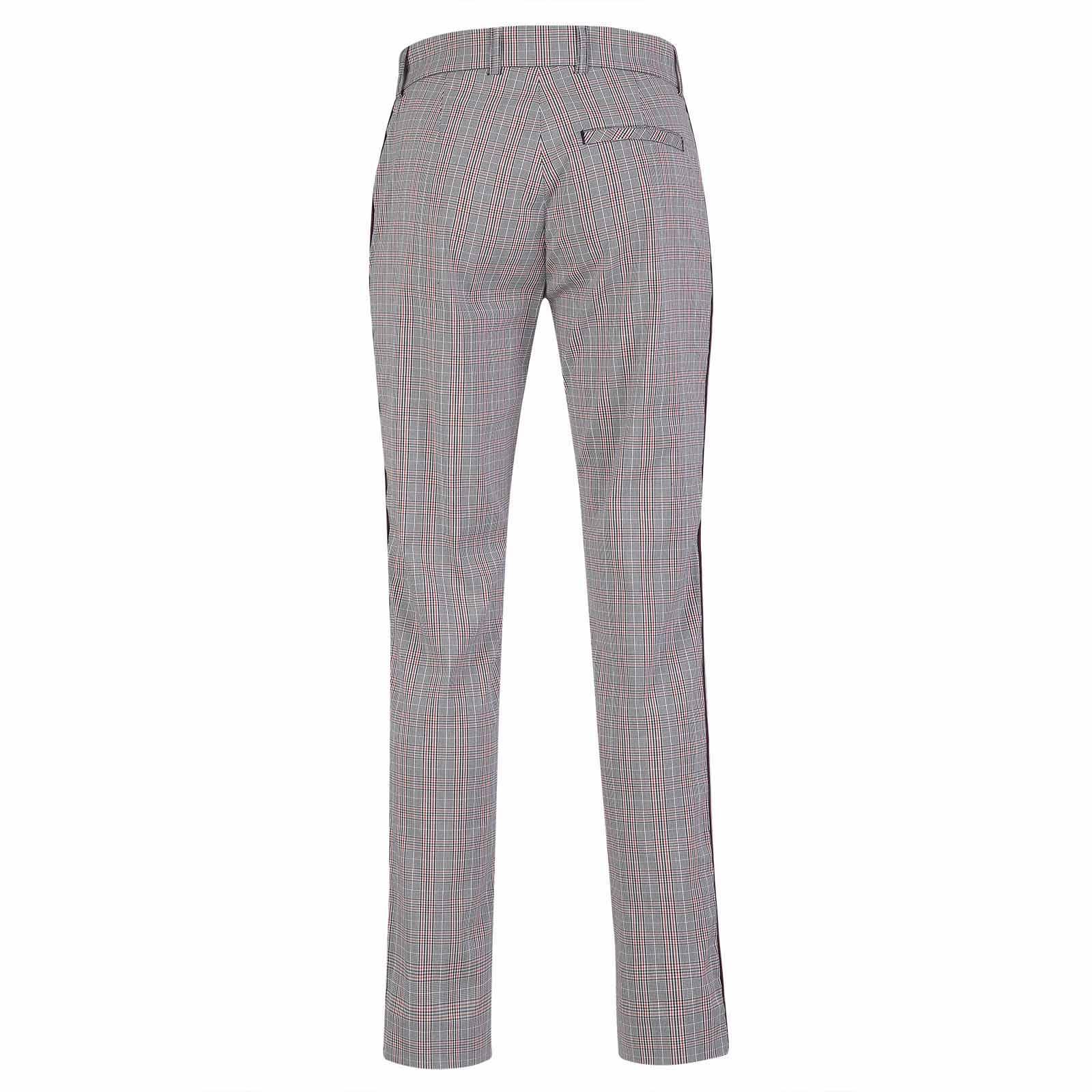 Damen 7/8-Golfhose aus Stretch-Material mit Karomuster in Regular Fit