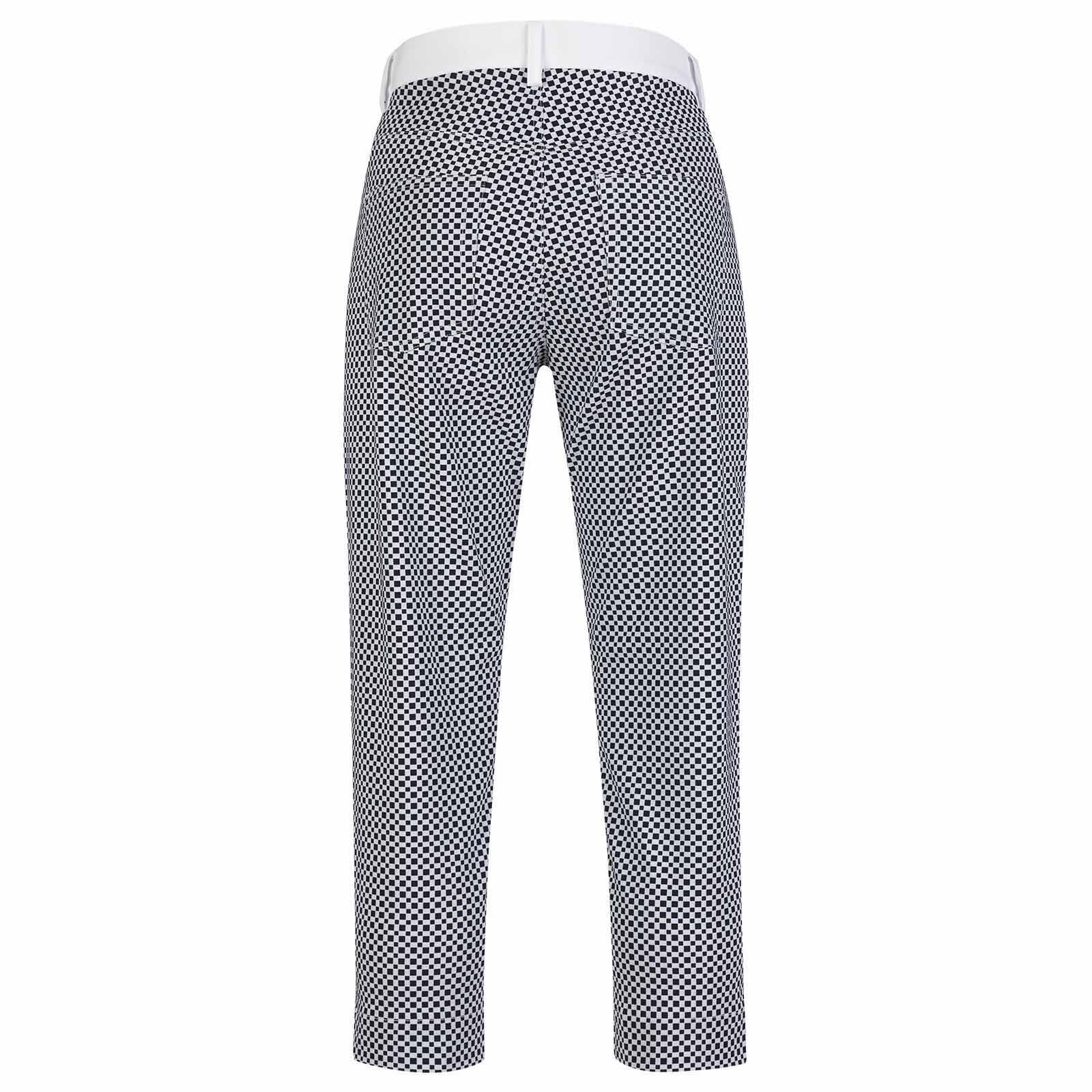 Damen Golf-Caprihose wasserabweisend mit modischem Muster