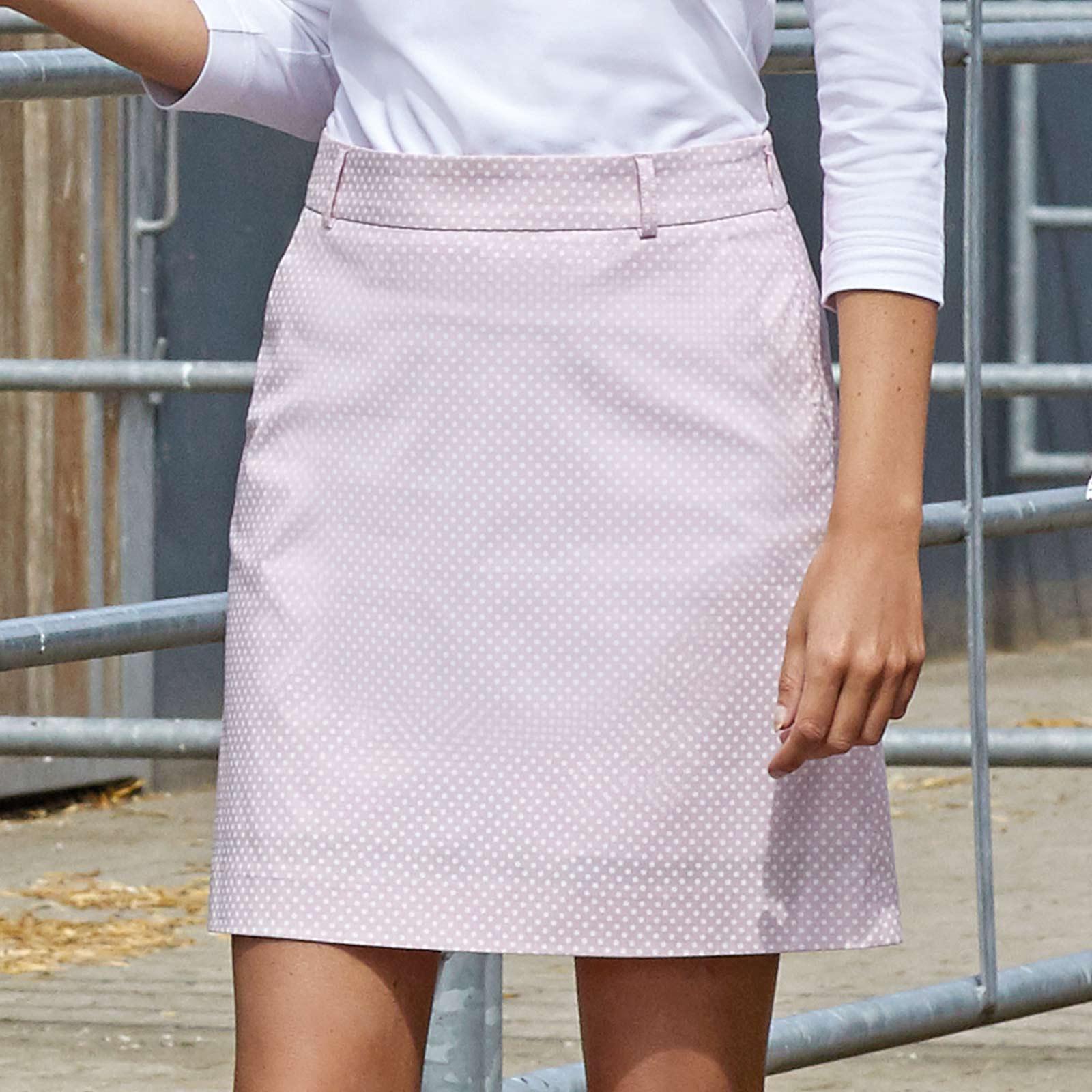 Damen Golfskort lang mit Extra Stretch Komfort und modischem Muster