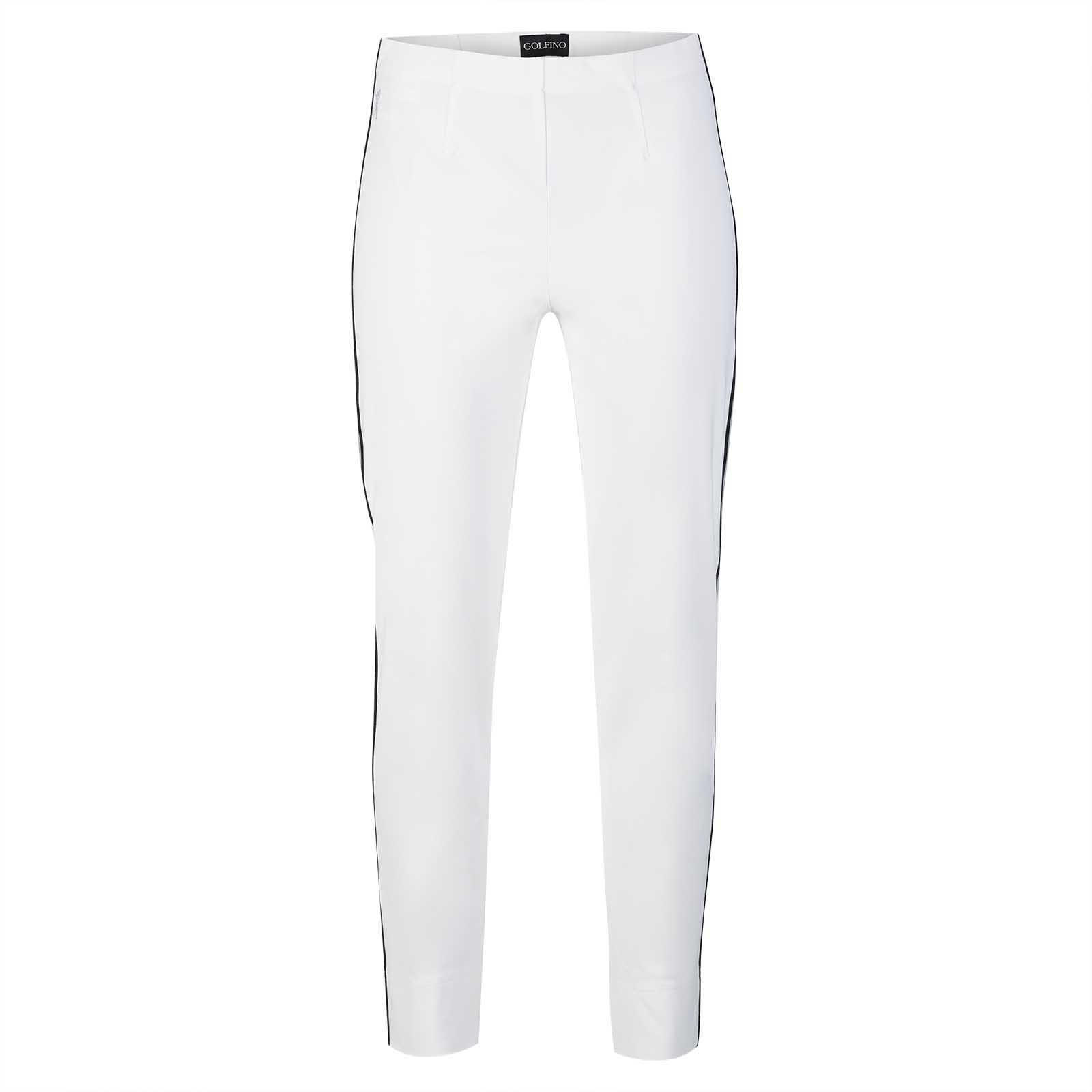 Damen Caprihose mit Extra Stretch Komfort und Galonstreifen in Slim Fit