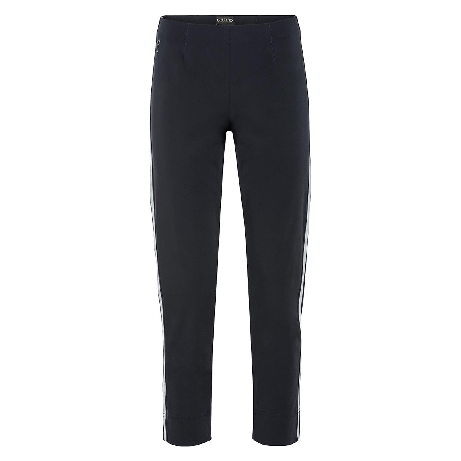 Pantaloni Capri da donna confortevoli e molto elasticizzati con bande laterali in vestibilità slim