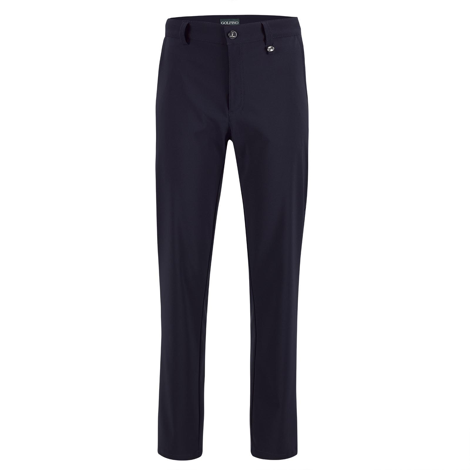 Ladies' 7/8 golf pants made from water-repellent stretch material