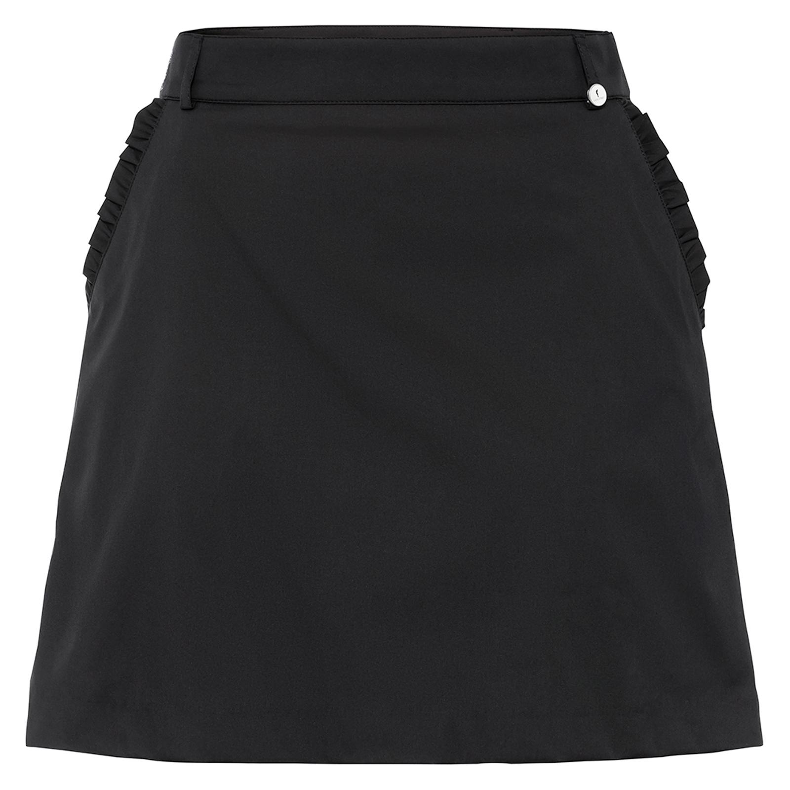 Damen Golfskort kurz mit Stretch Komfort und innenliegender Hose in Slim Fit