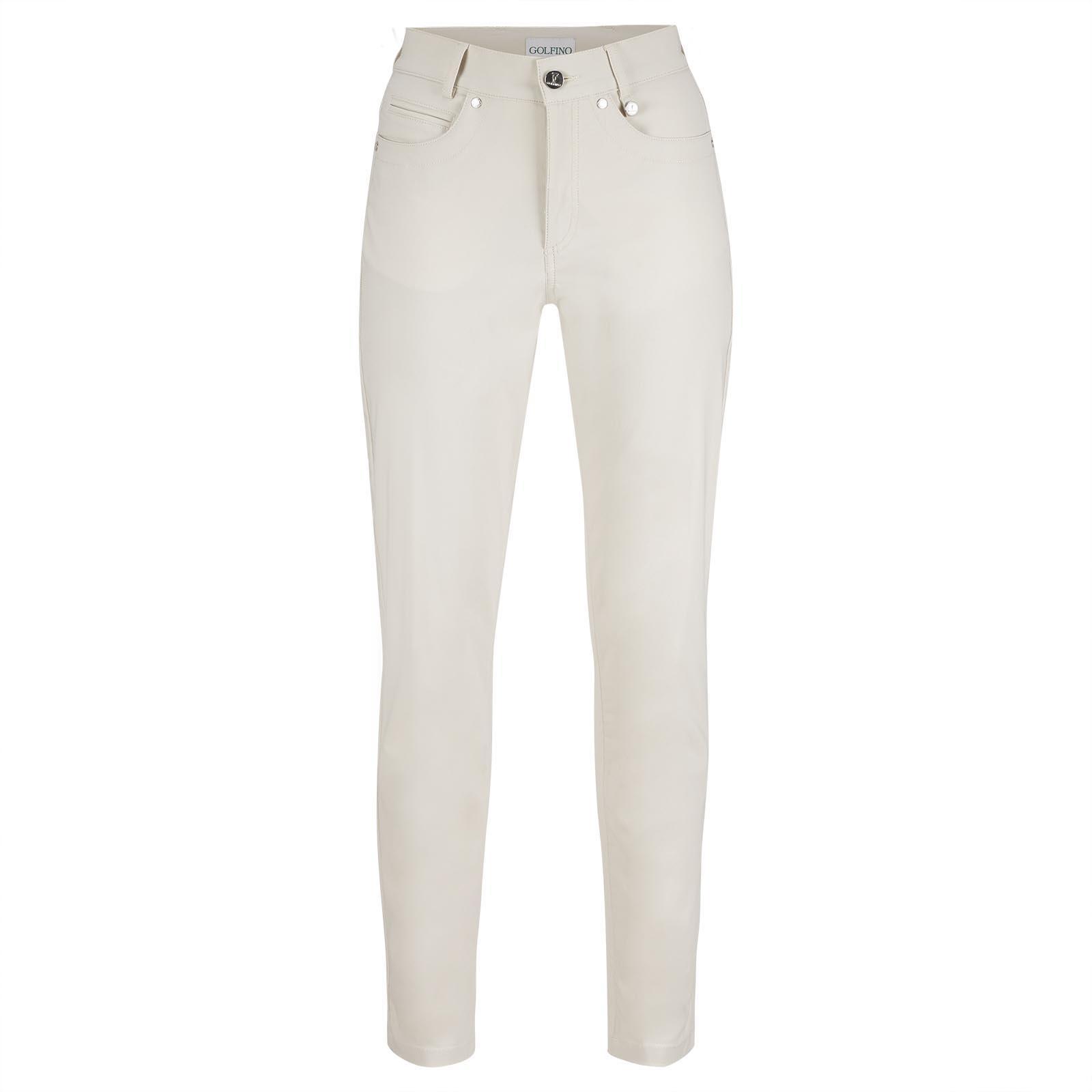 Pantalón de mujer de 7/8 con diseño de 5 bolsillos de tejido elástico con protección solar
