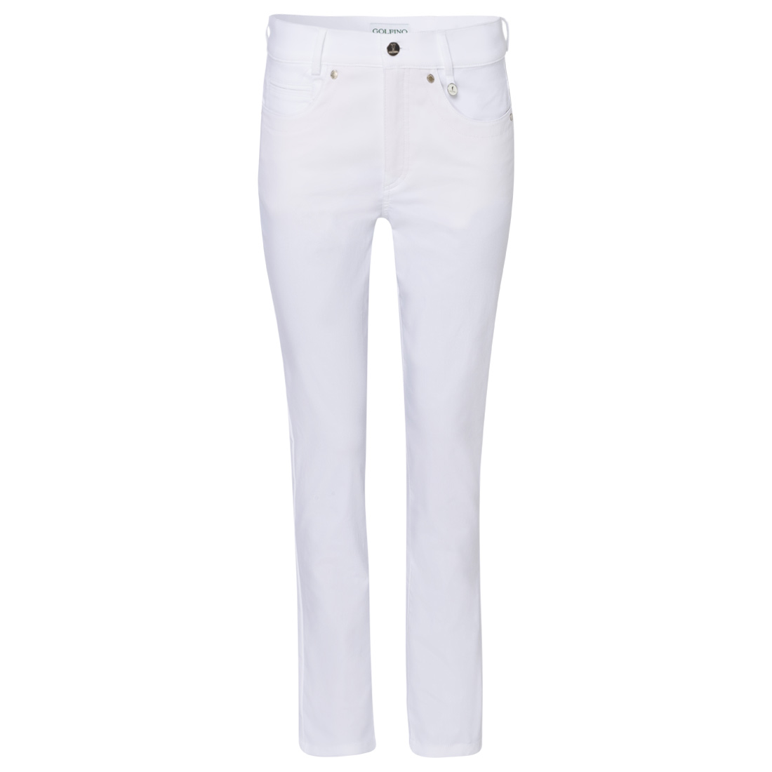 Ladies' 7/8 pants in 5-pocket style made from stretch material with sun protection function