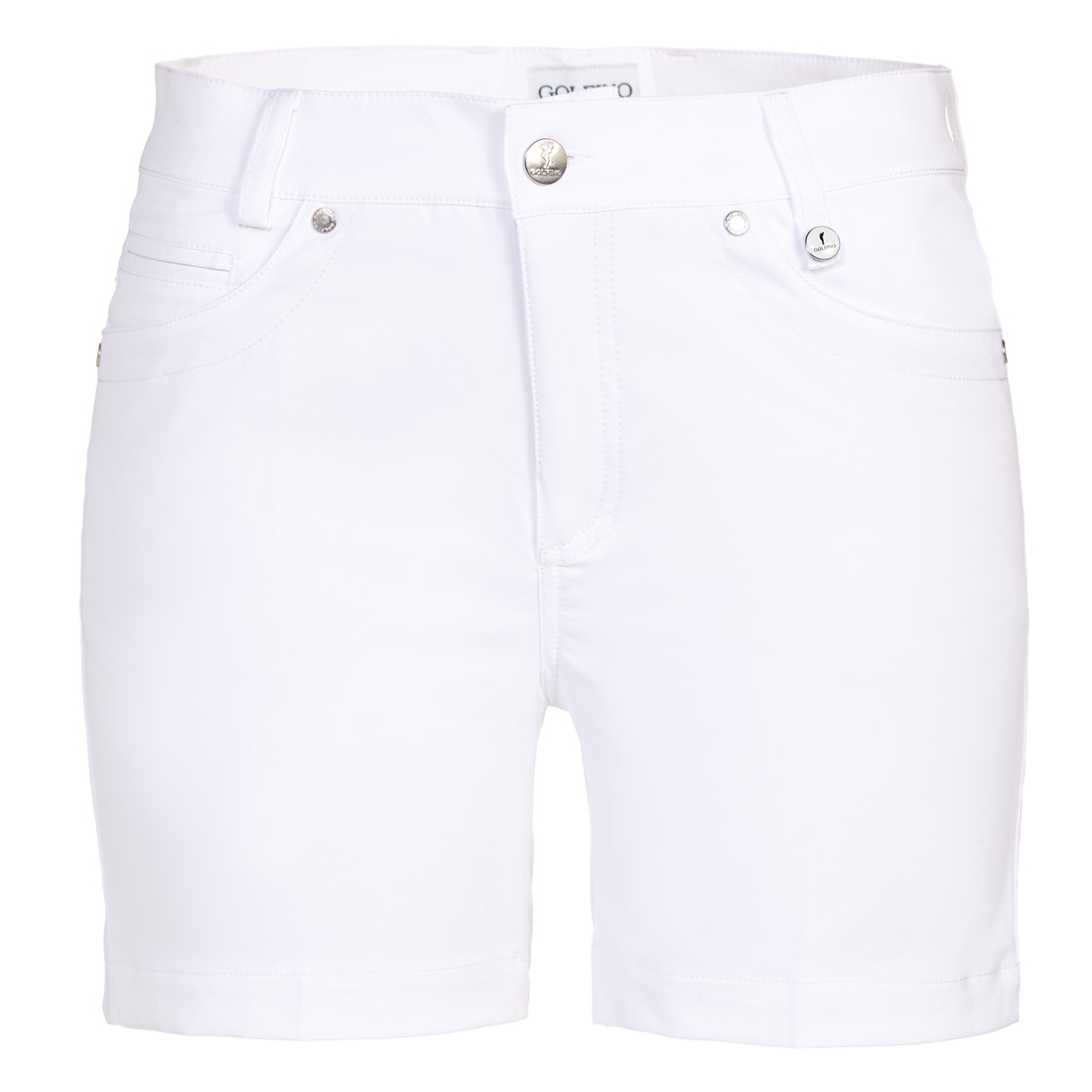 Ladies' golf shorts in short slim fit with stretch component and sun protection