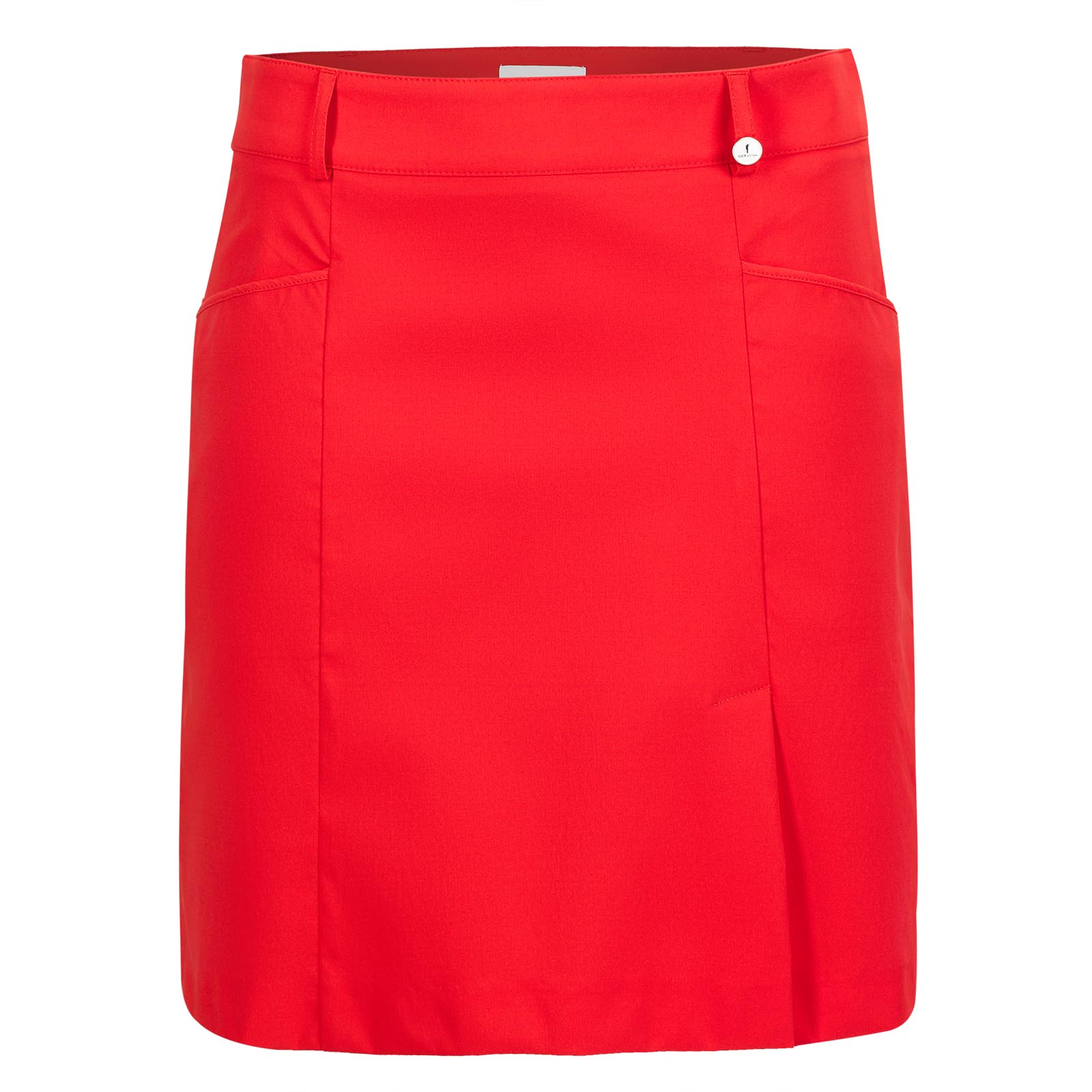 Ladies' skort made from water-repellent stretch material with sun protection function