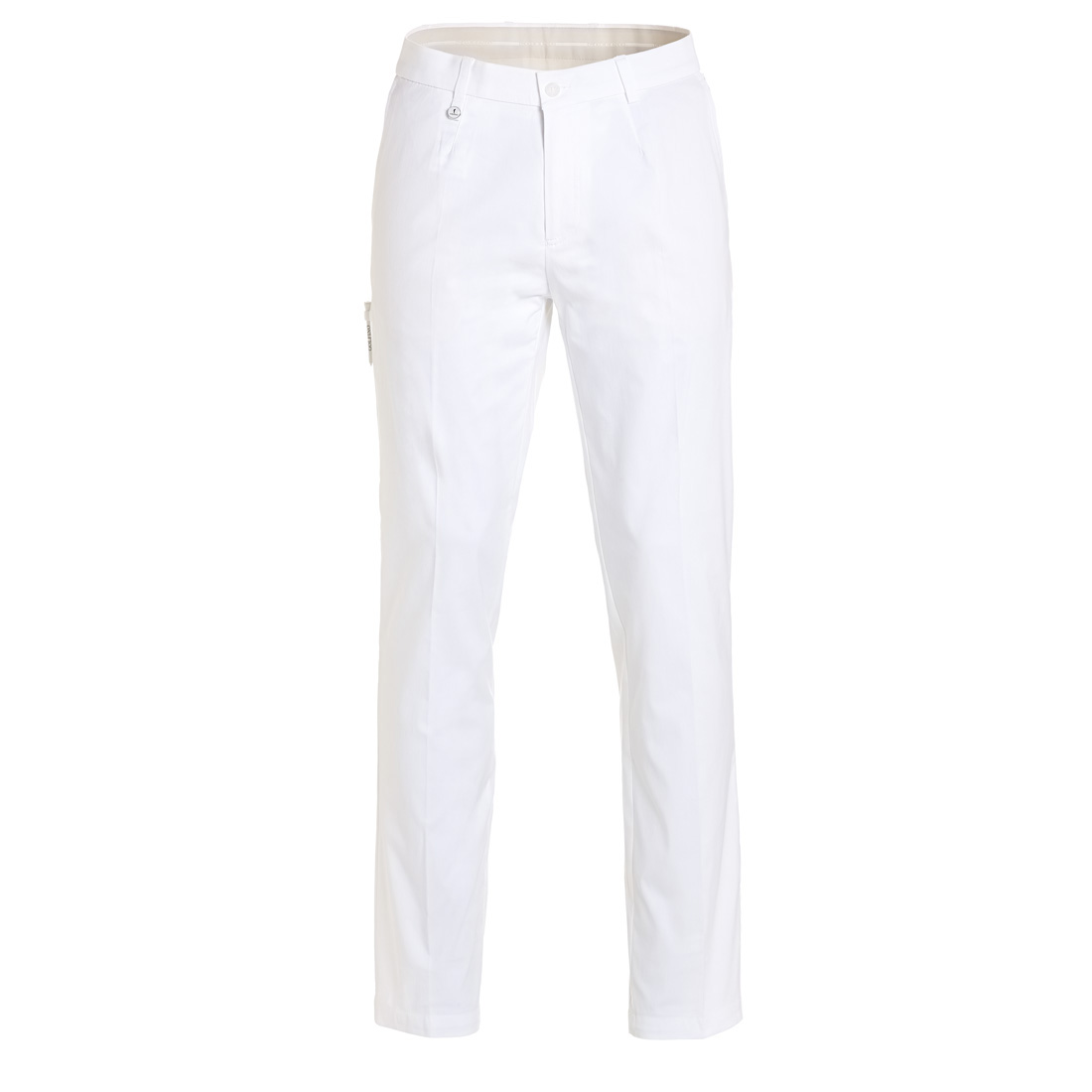 Men's golf pants with sun protection function and stretch component
