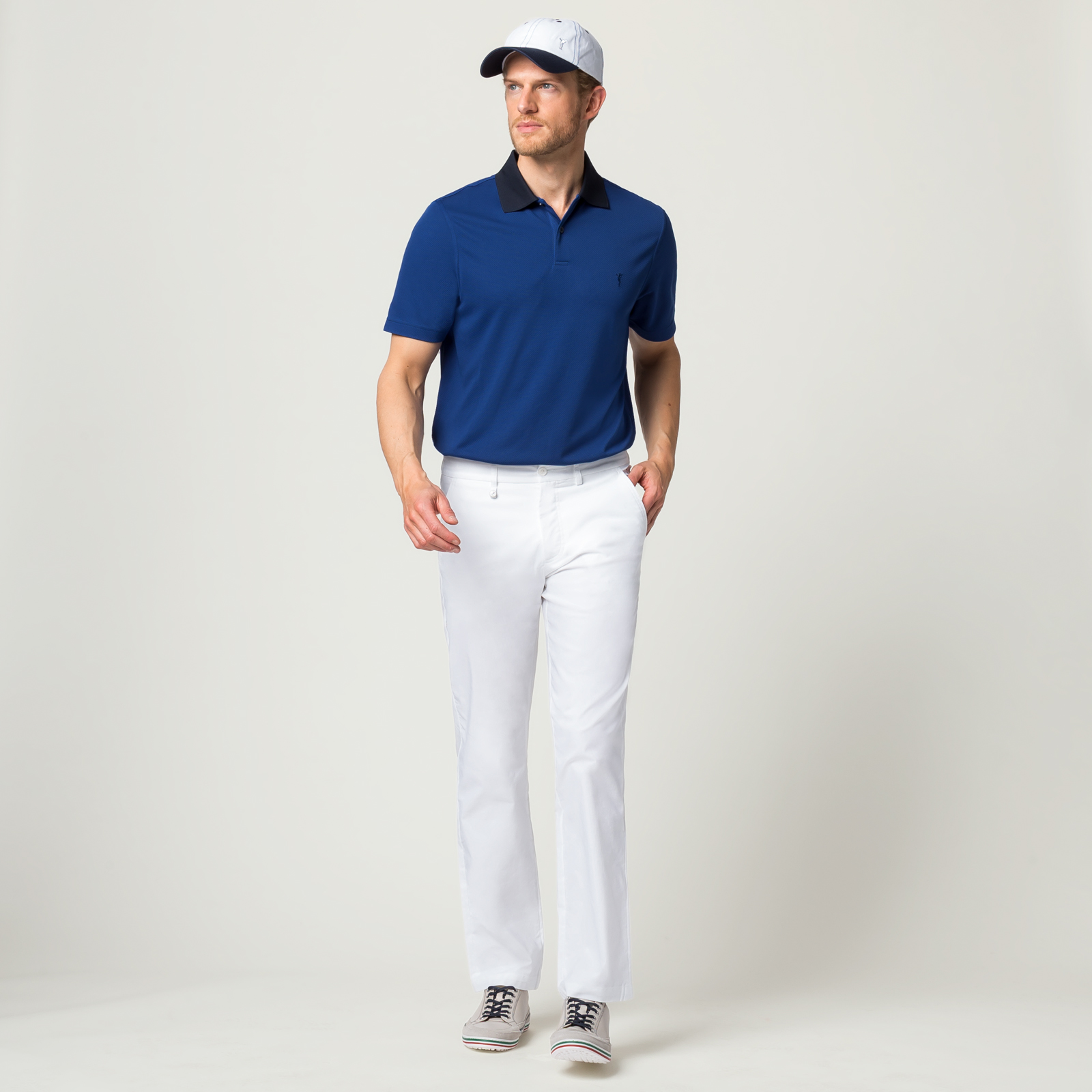 Herren Golfhose mit Sonnenschutz-Funktion und Stretch-Anteil