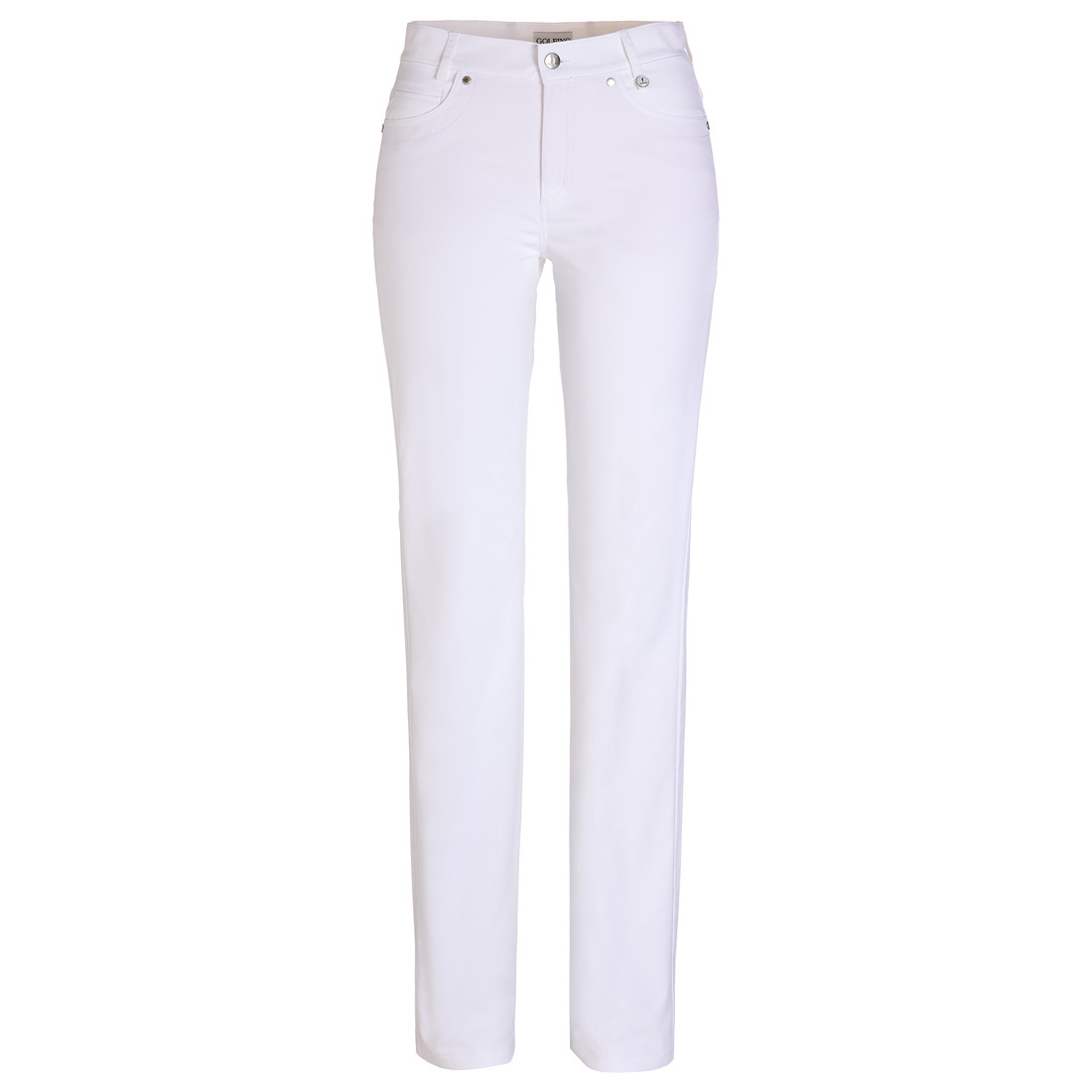 Ladies' golf pants made from stretch material with sun protection function in slim fit