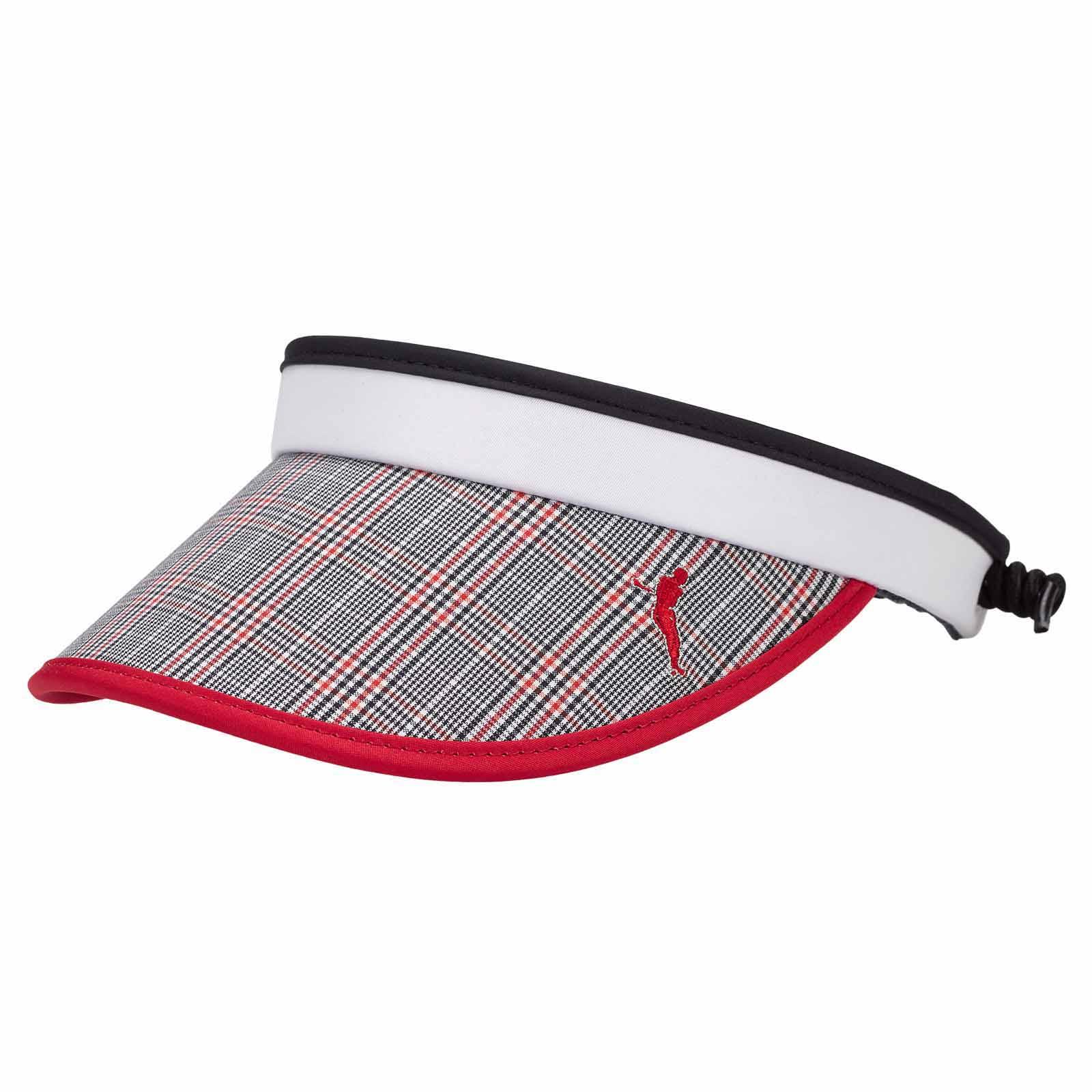 Damen Golf Cable Visor Sonnenschutz mit Karo Muster