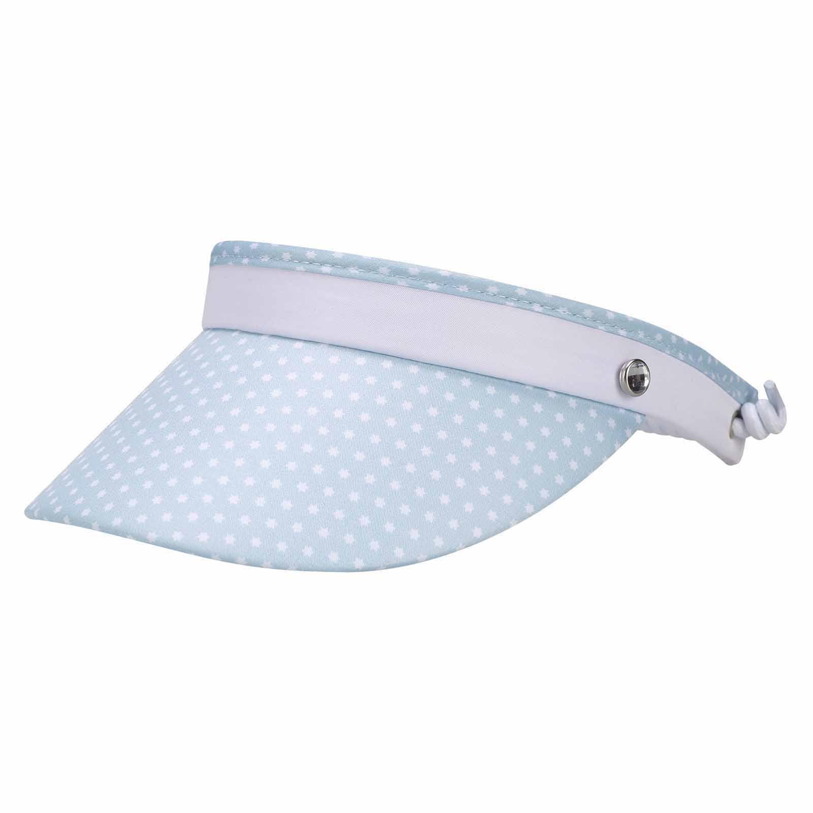 Damen Golf Cable Visor mit weißen Sternen für einen perfekten Golf-Look