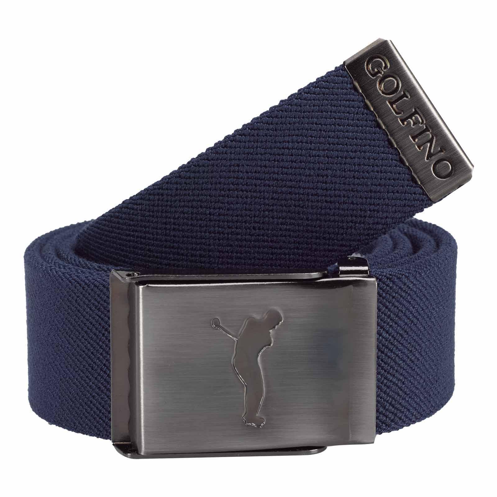 Herren Golfgürtel aus Stretch-Material mit nickelfreier Gürtelschnalle