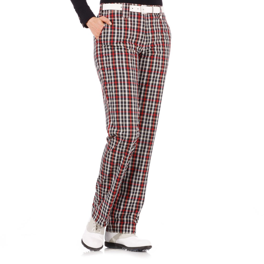 Checked thermo trousers
