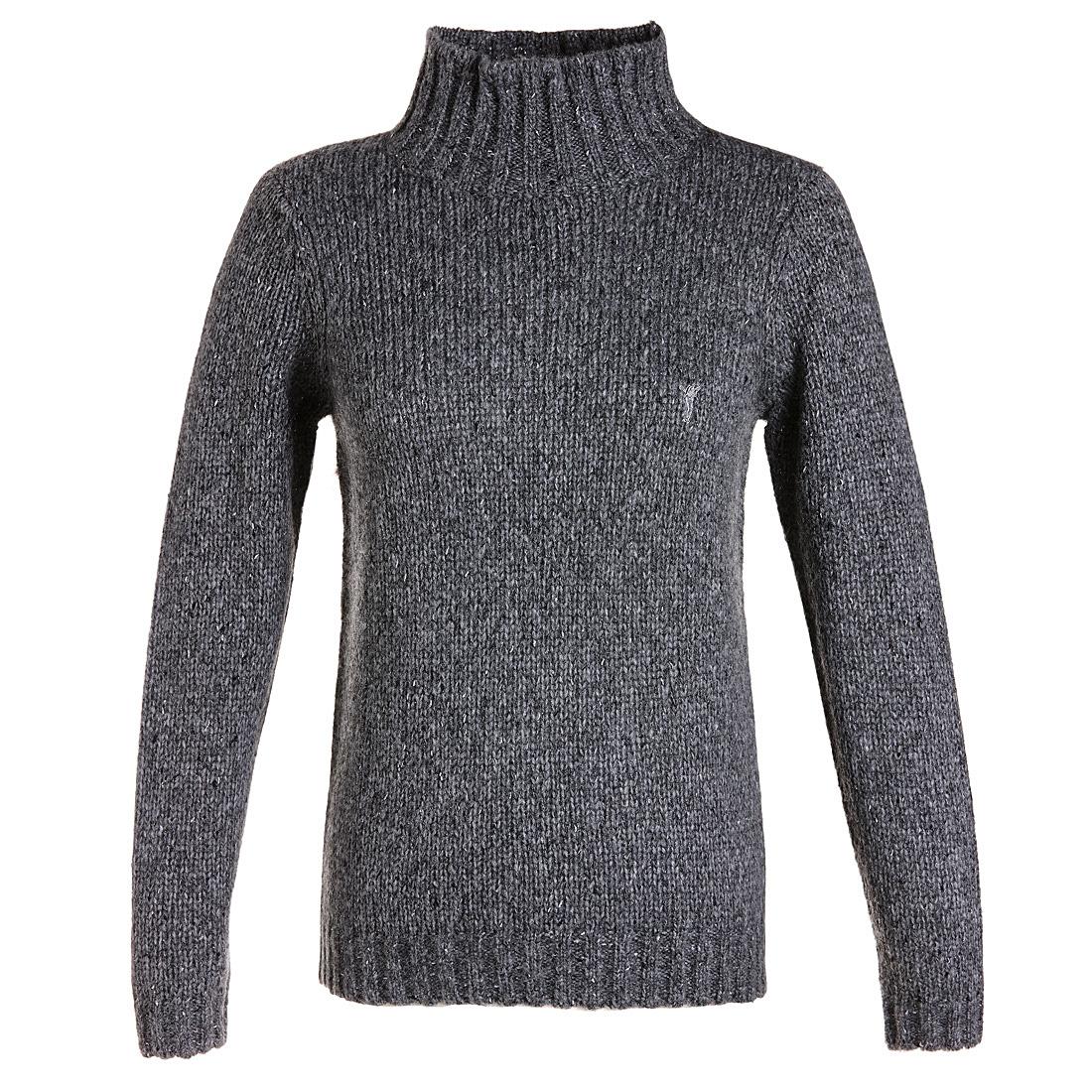 Funkelnder Rollkragen Pullover Grau