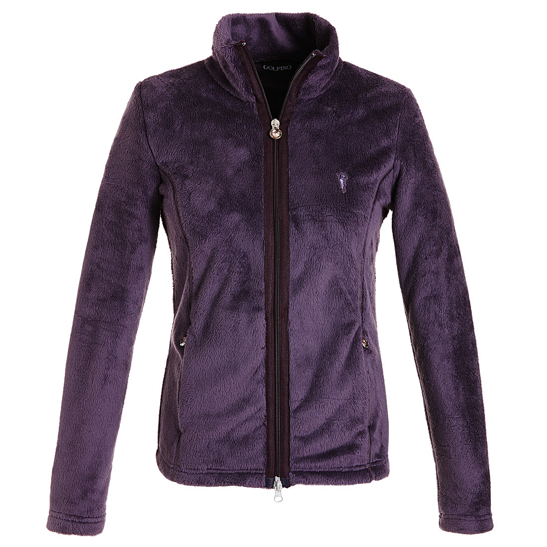 Flauschige Fleece Jacke Violet