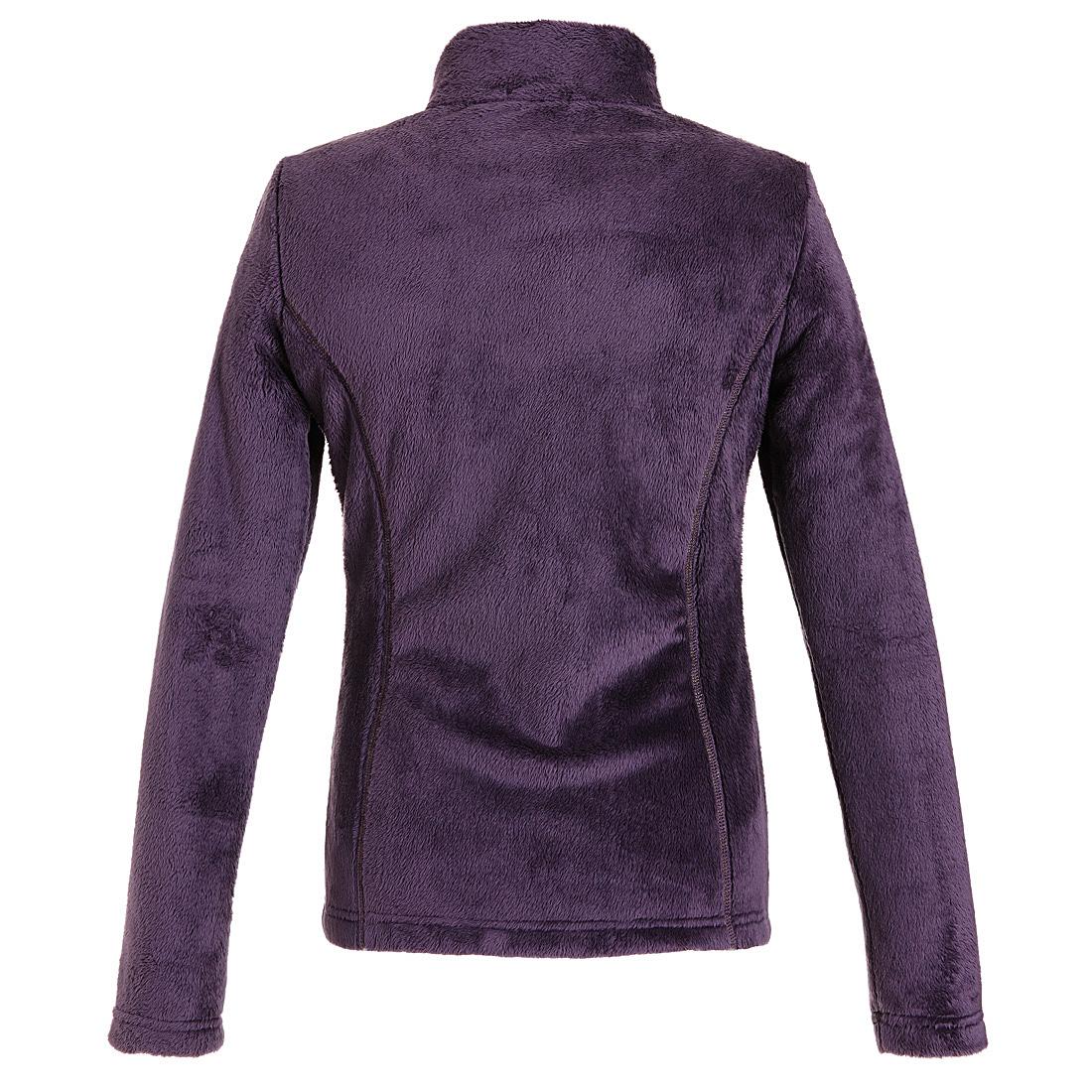 Flauschige Fleece Jacke Violet