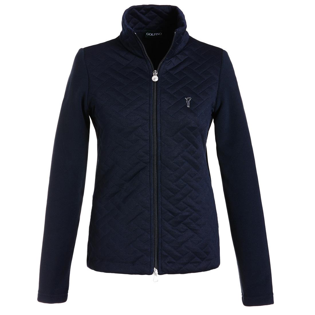 Fleece Jacke mit der Vorderseite aus Jacquard Braun