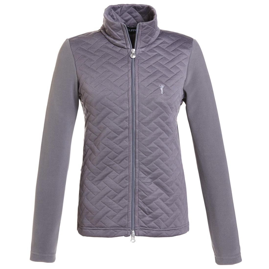 Fleece Jacke mit der Vorderseite aus Jacquard Grau