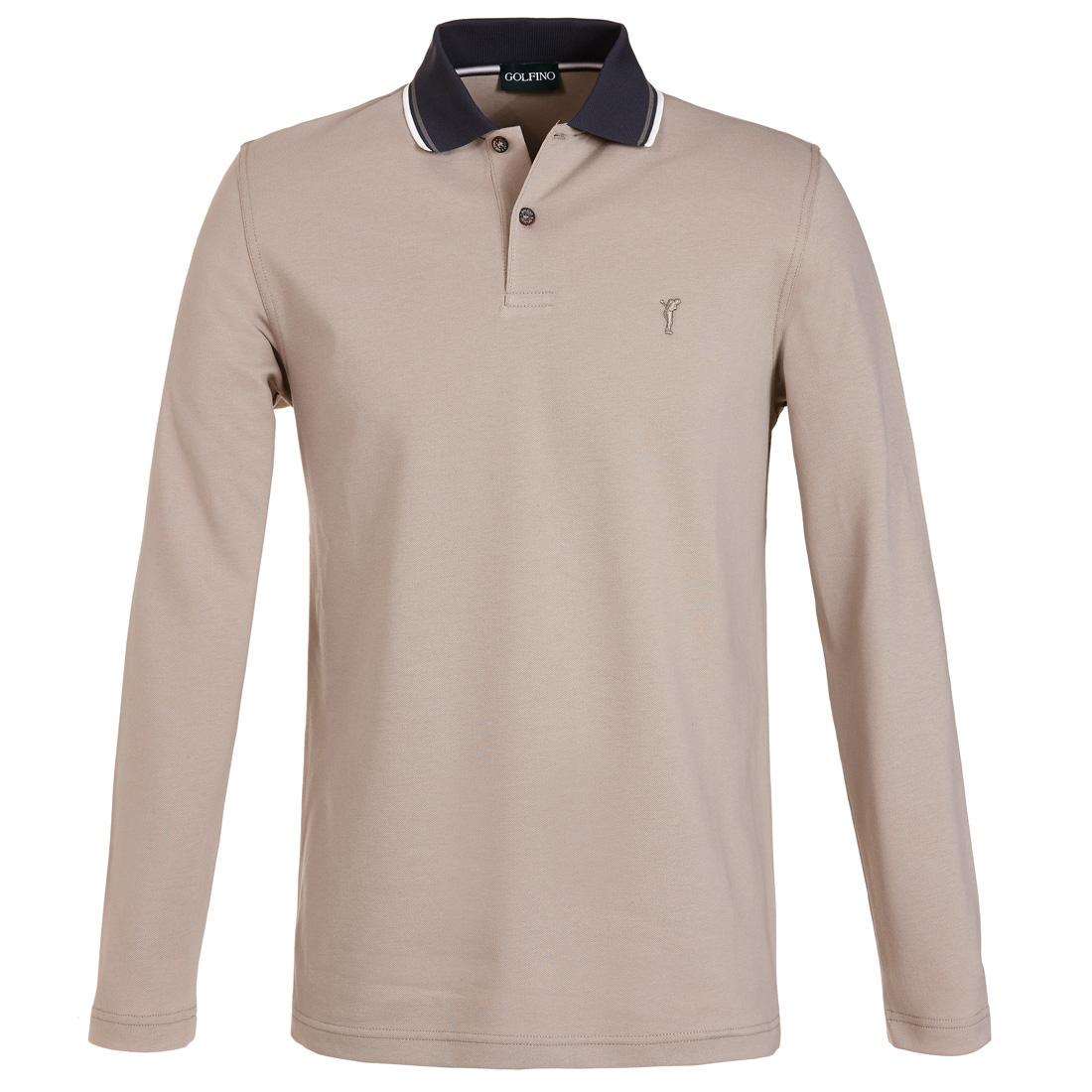 Piqué Poloshirt mit Sonnenschutz Beige