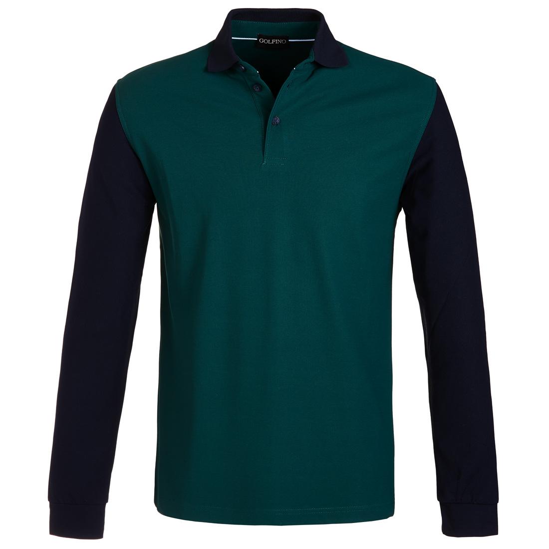 Extra Dry Pikee Poloshirt mit Stehkragen Grün