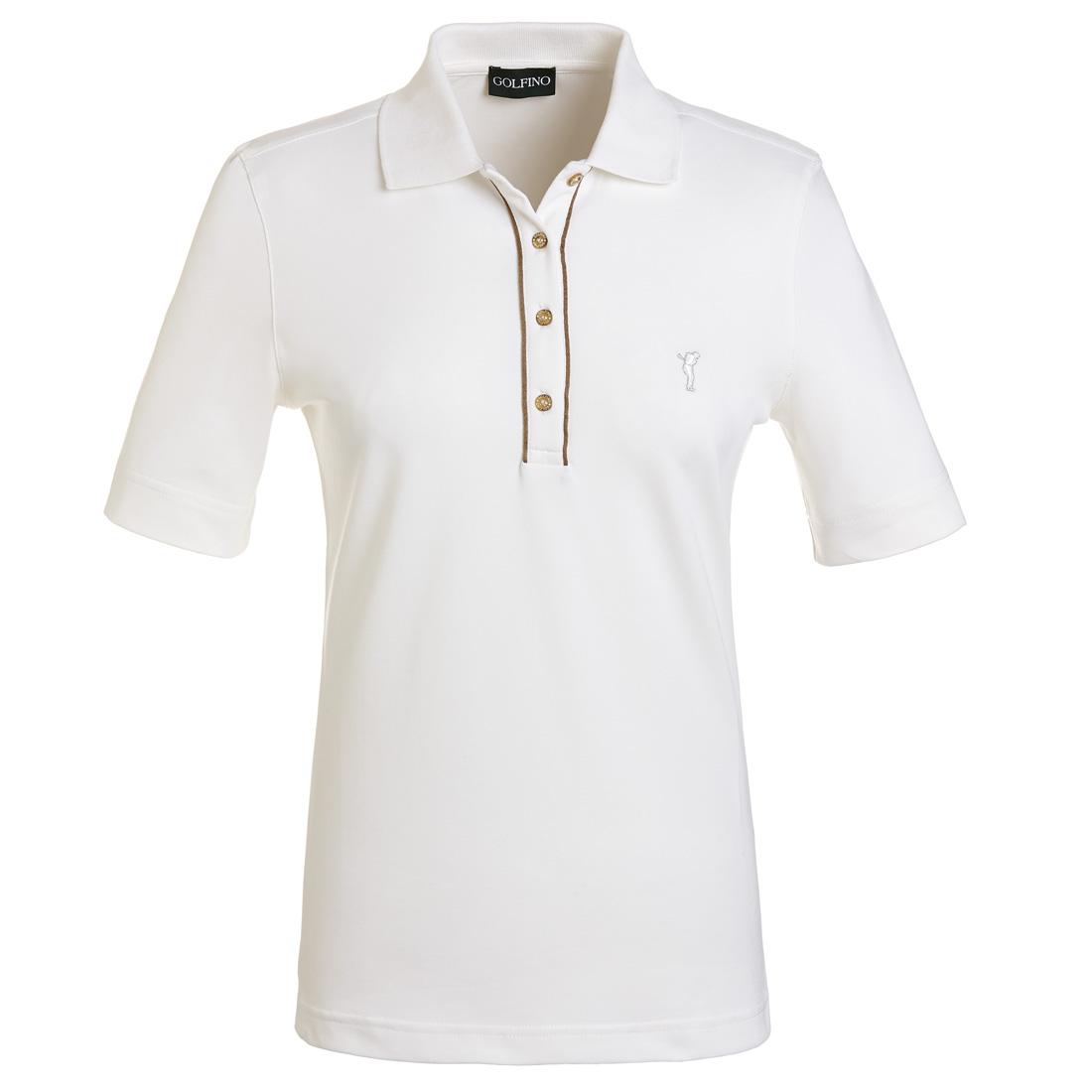 Kurzarm Poloshirt mit Sonnenschutz Weiß