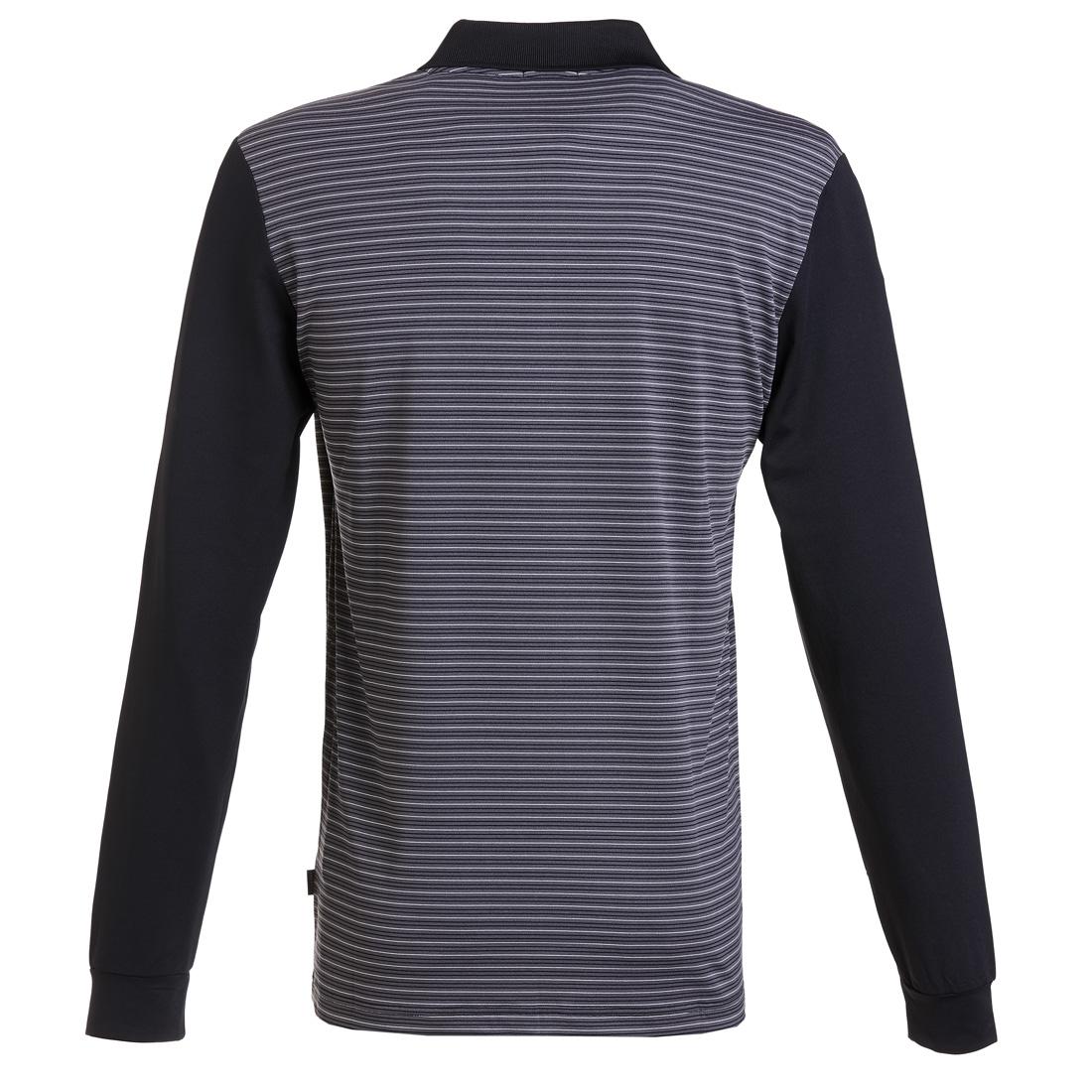 Gestreiftes Dry Comfort Poloshirt Schwarz