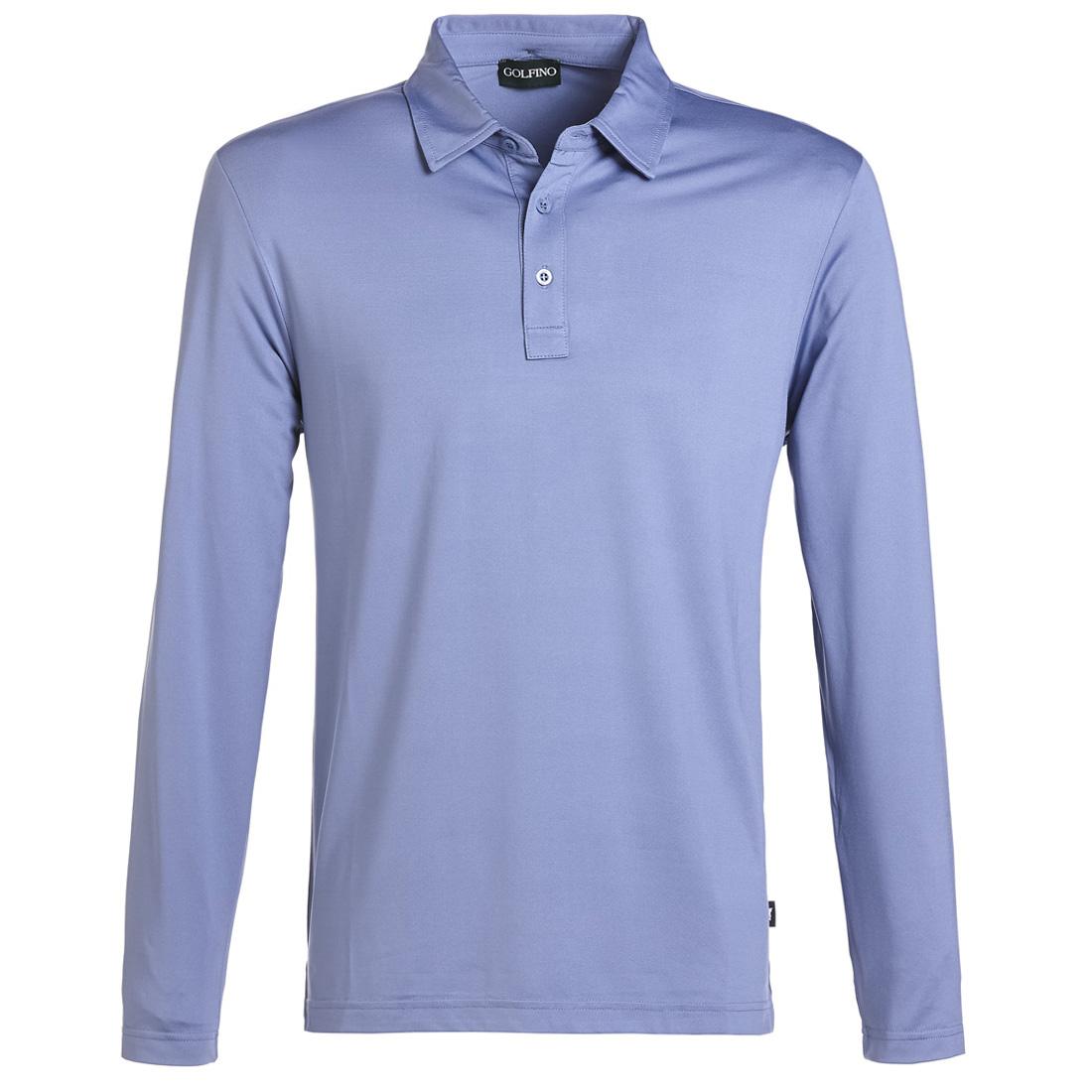 Weiches Herren Langarm Golf Shirt