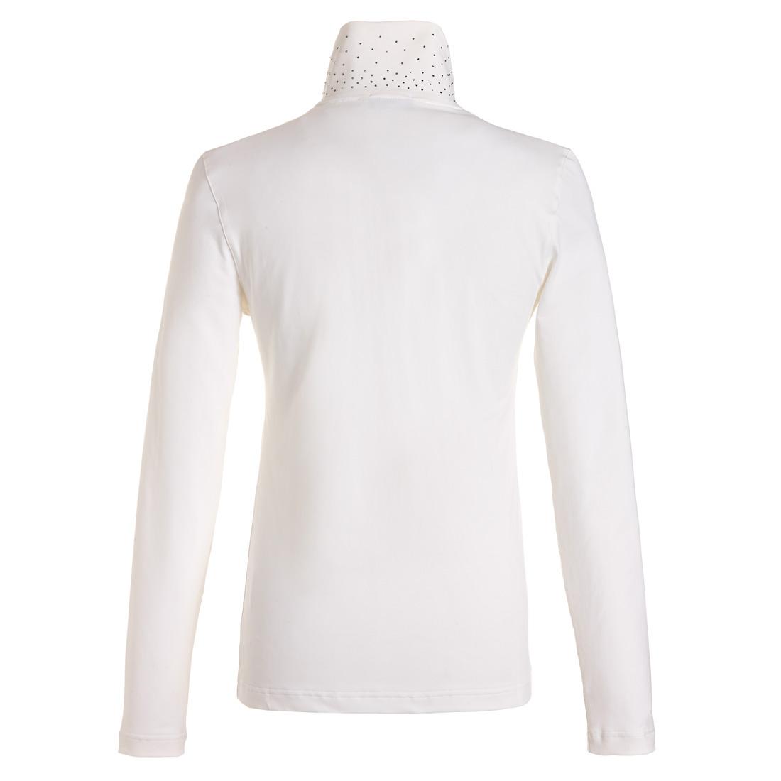 Dry Comfort Troyer mit Schalkragen Weiß