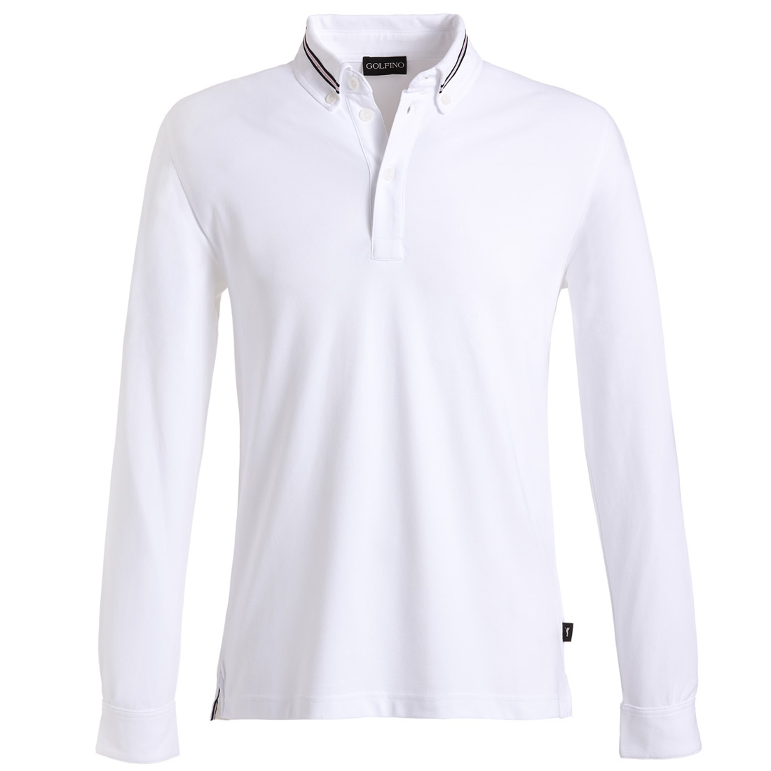 Poloshirt mit Stehkragen und Sonnenschutz Weiß