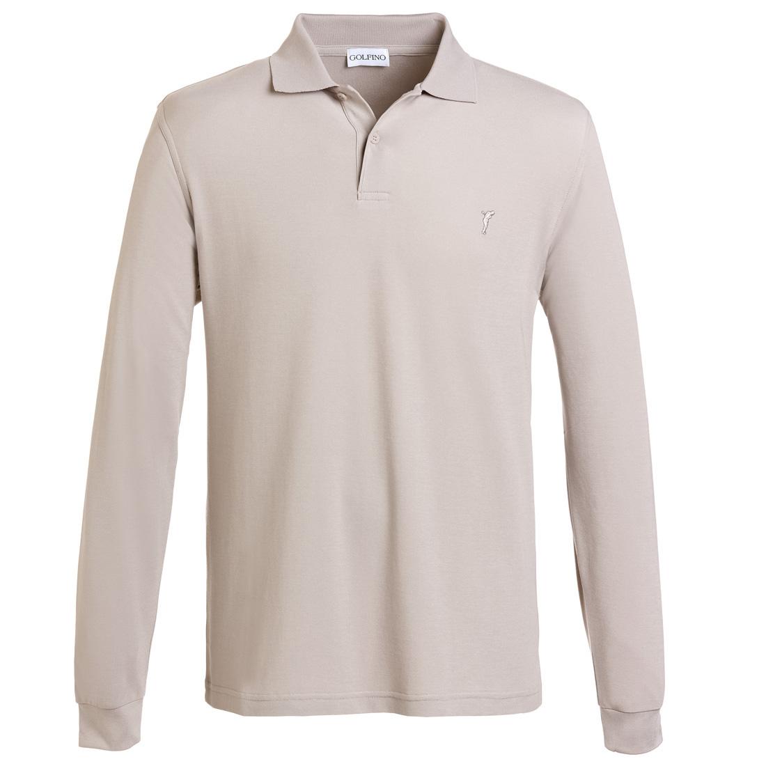 Extra Dry Herbst Poloshirt gebürstet Beige