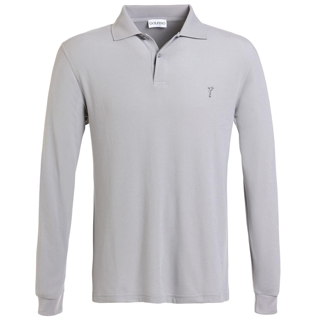 Extra Dry Herbst Poloshirt gebürstet Grau