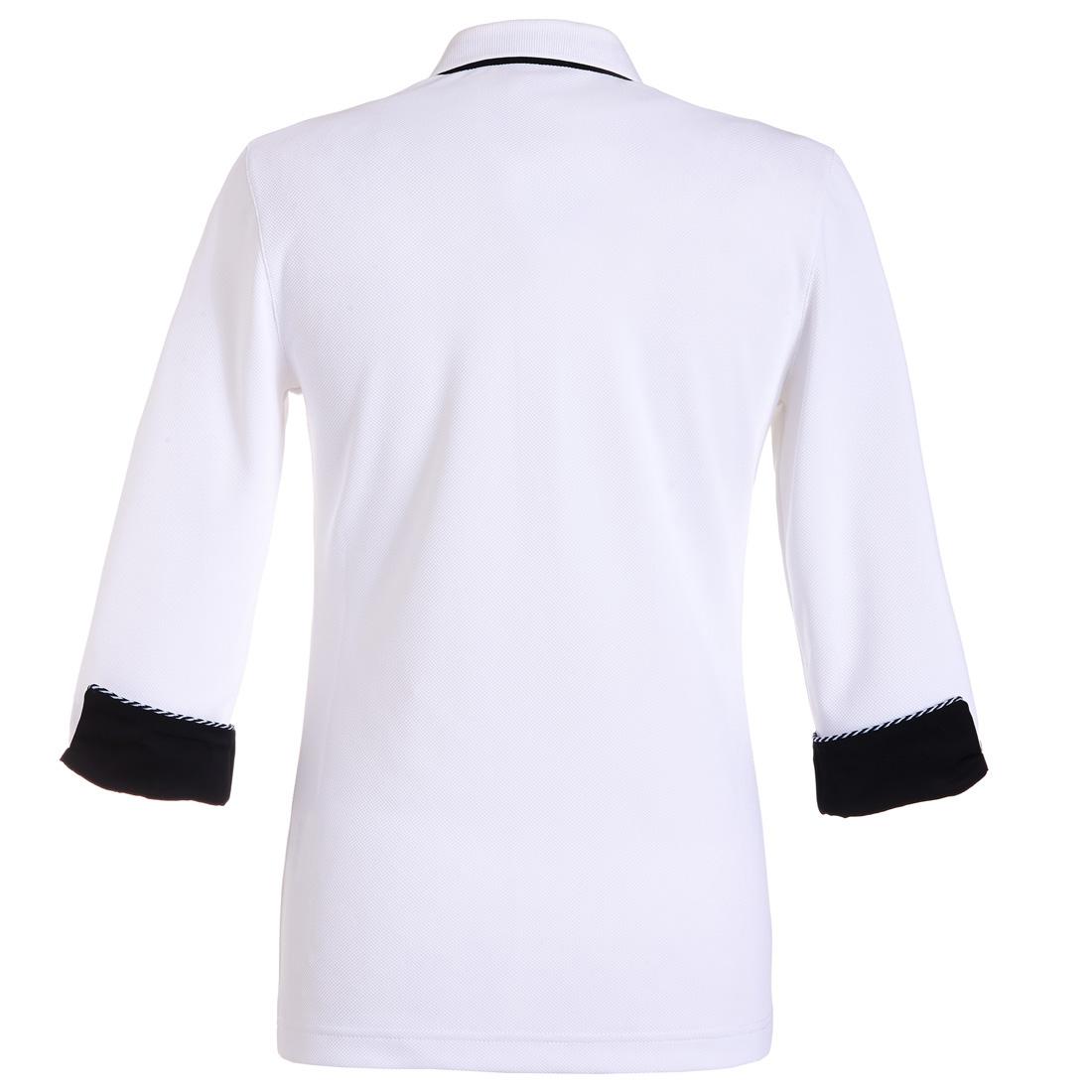Dry Comfort Poloshirt mit 3/4 Arm Weiß