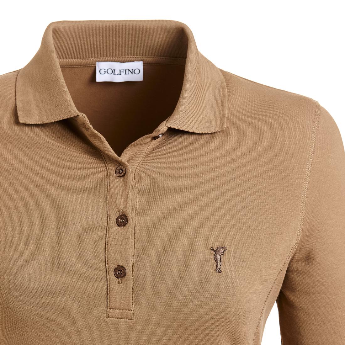 Poloshirt mit Sonnenschutz Braun