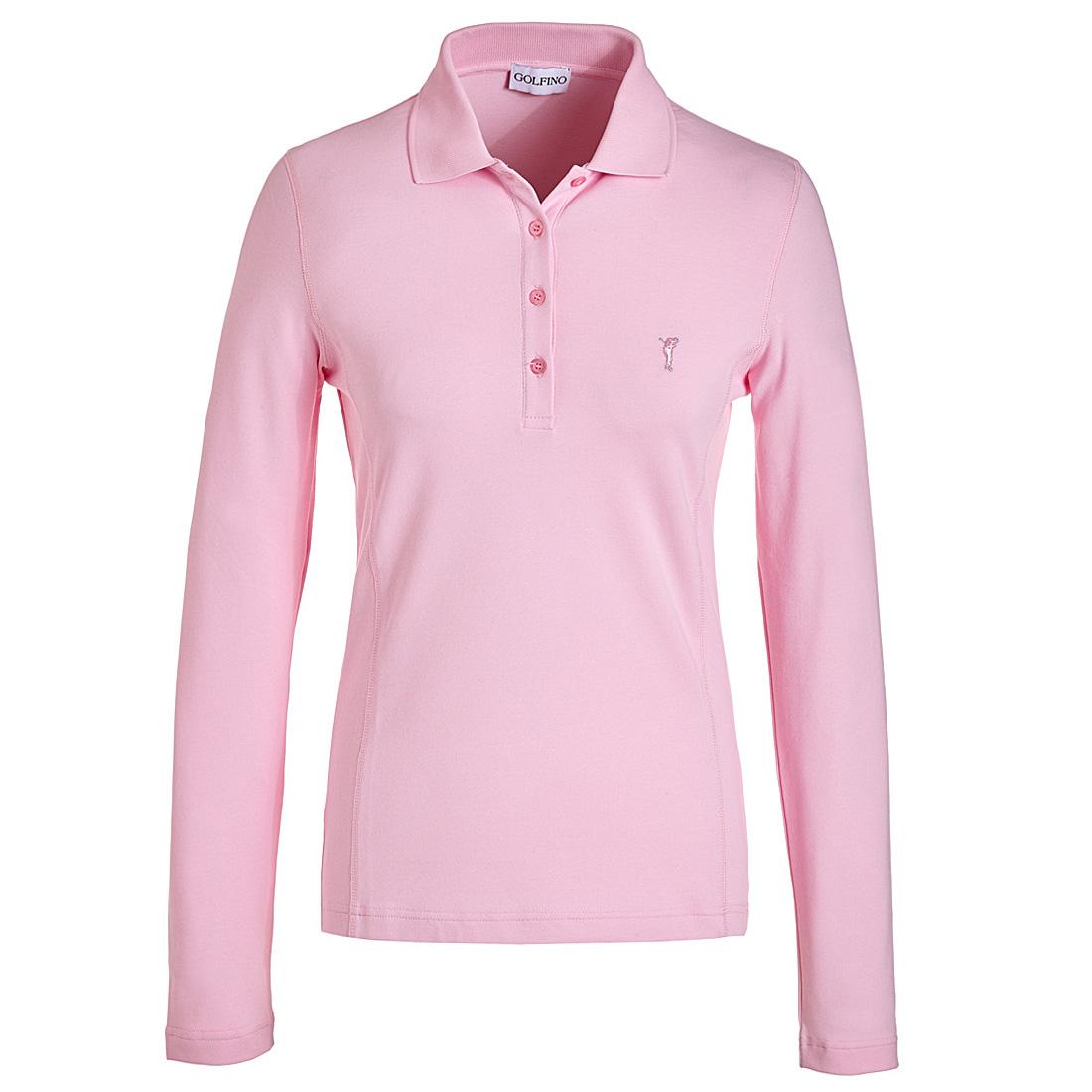 Poloshirt mit Sonnenschutz Pink