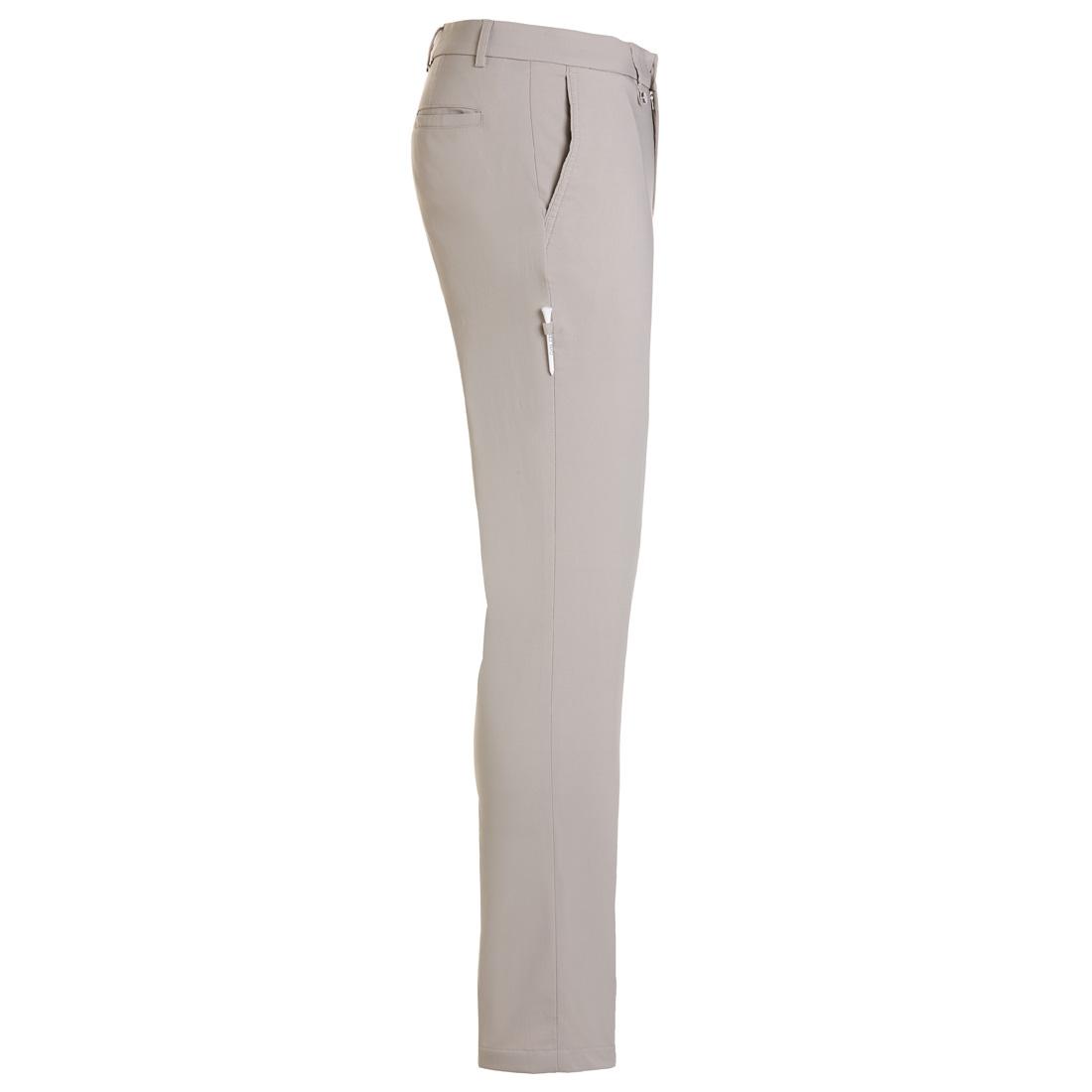 Gebürstete Techno Stretch Hose - schmal geschnitten - Light Taube