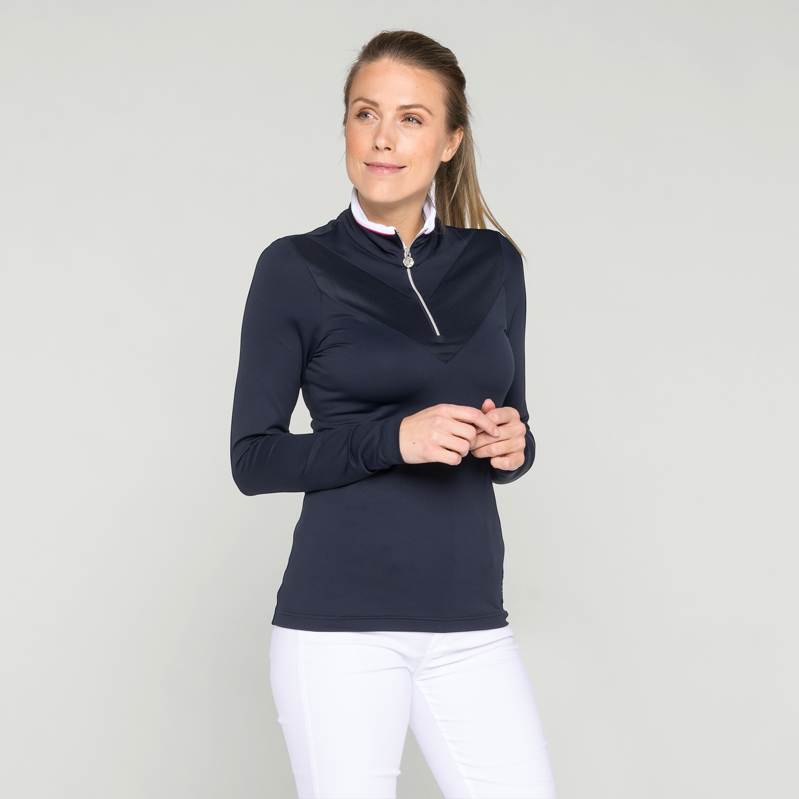 Atmungsaktives Langarm Polo für Damen