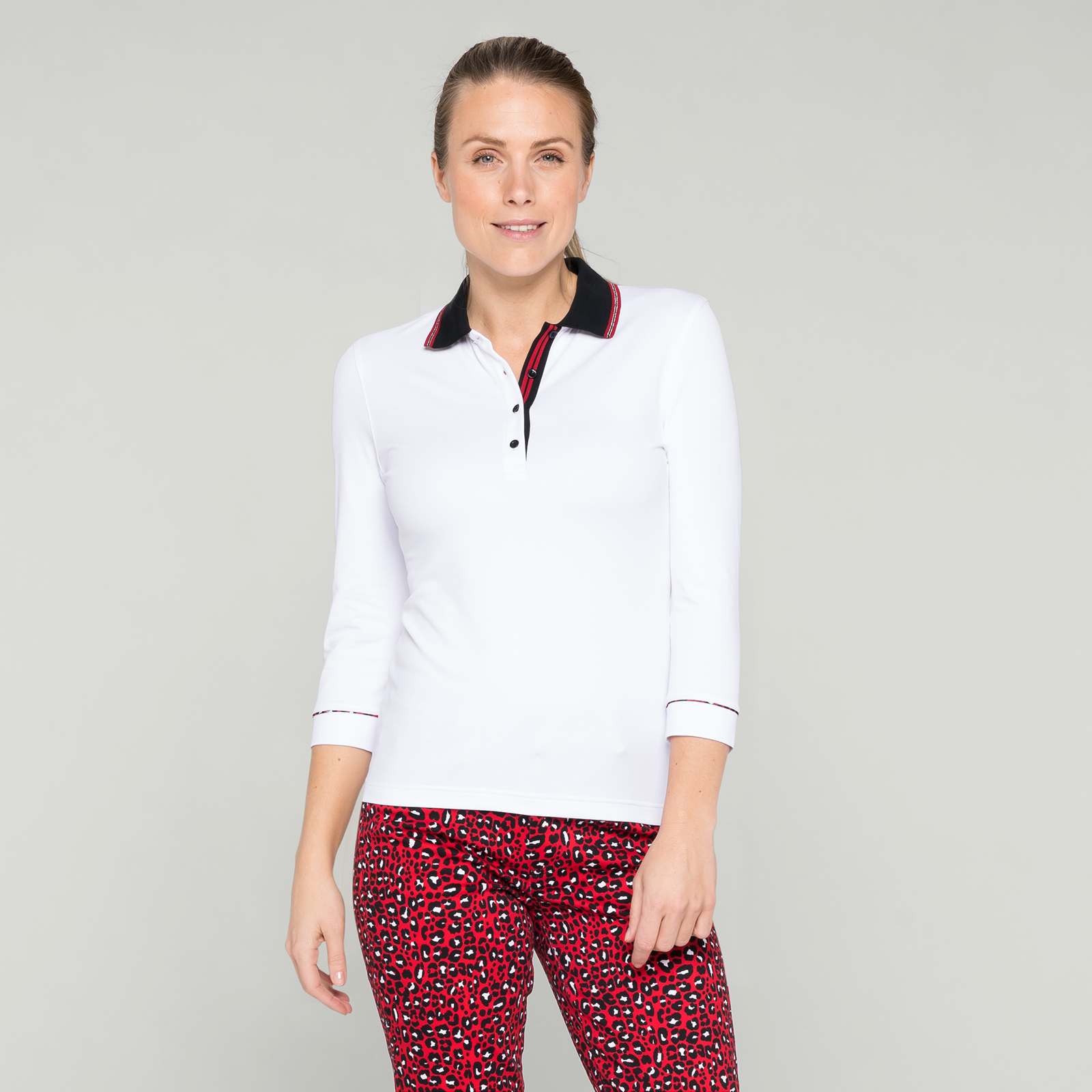 Damen Golf Polo mit 3/4-Arm