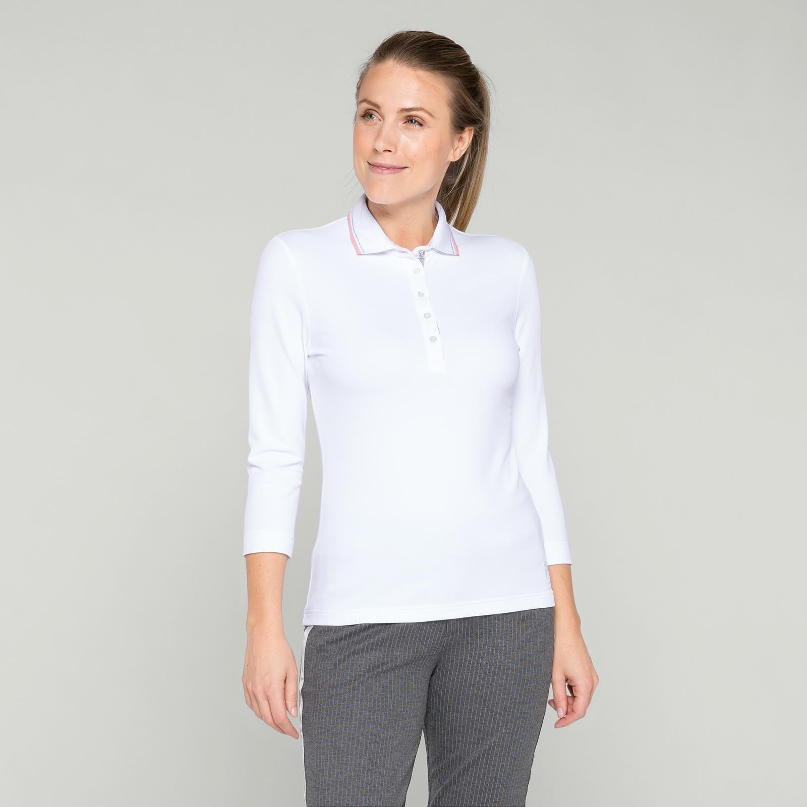 Vielseitiges 3/4-Arm Golf Polo für Damen