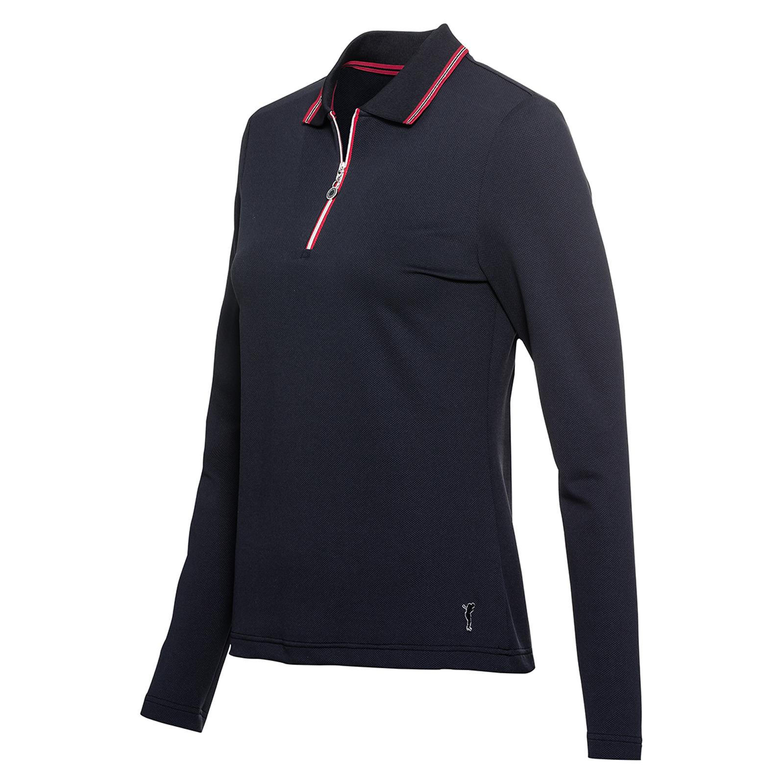 Elastisches Damen Langarm Poloshirt