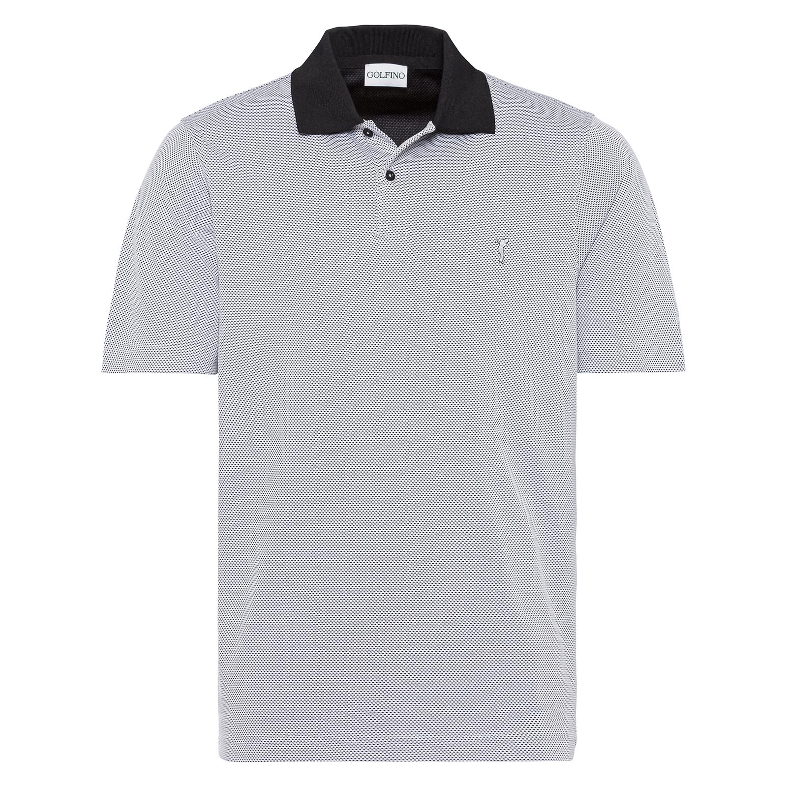 Texturiertes Herren Golf Polo