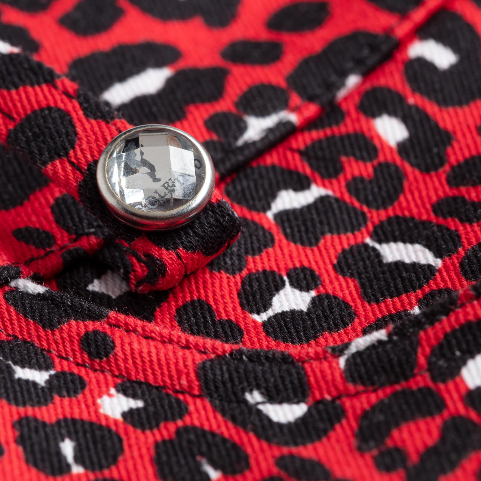 Elastische 7/8-Golfhose mit Stretch-Anteil in Leoparden-Design