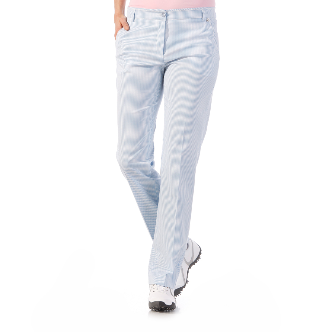 Stretch-Hose mit Vichy-Muster