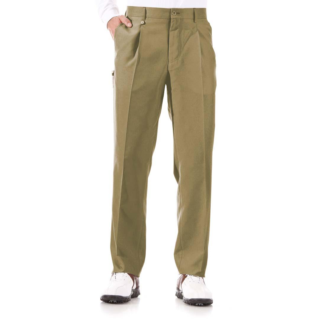 Klassische Hose mit Bundfalte aus Mikrofaser-Material
