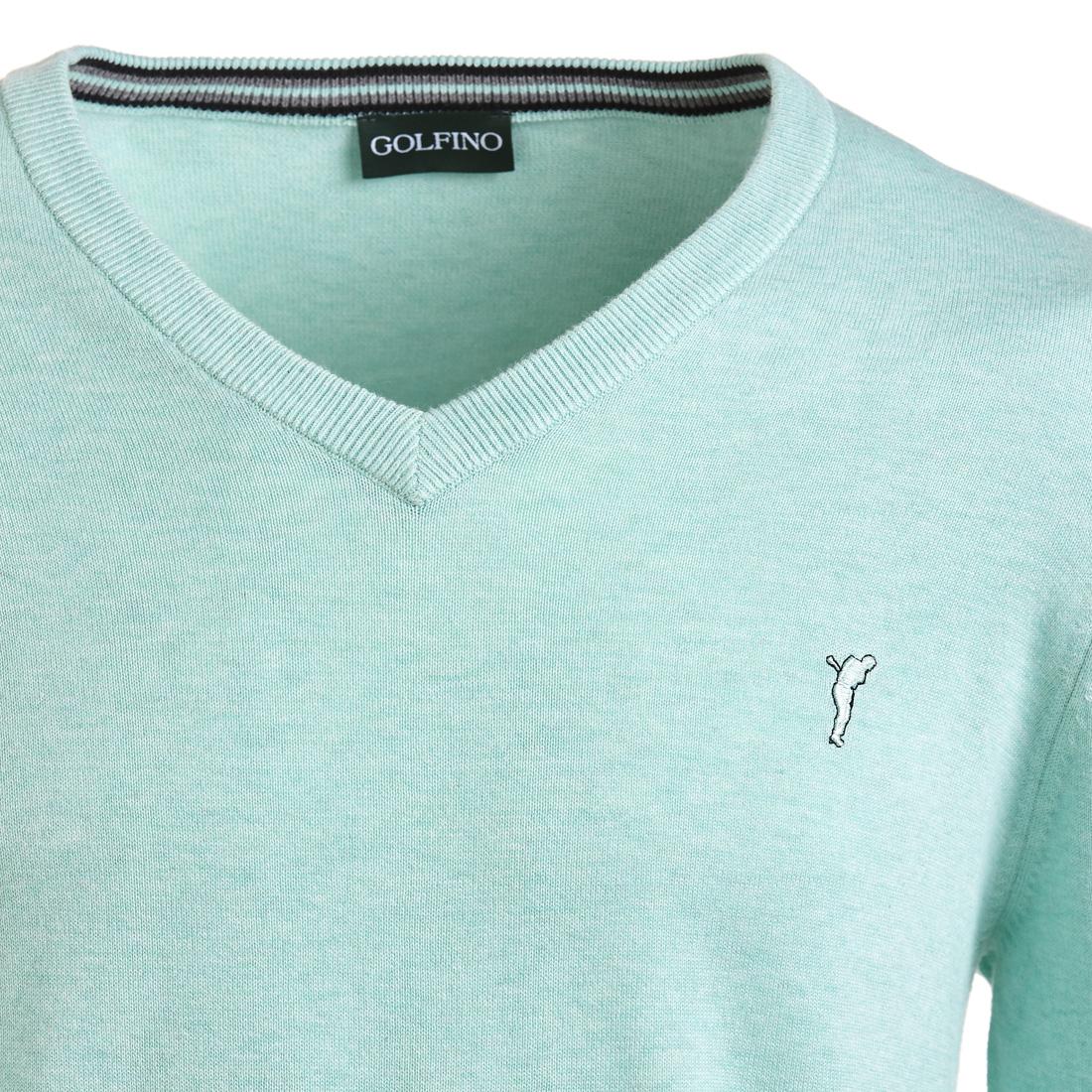 Herren Golfpullover mit V-Ausschnitt aus reiner Baumwolle