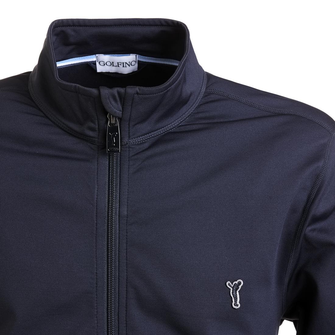 Golf-Fleecejacke mit Techno Stretch in Regular Fit
