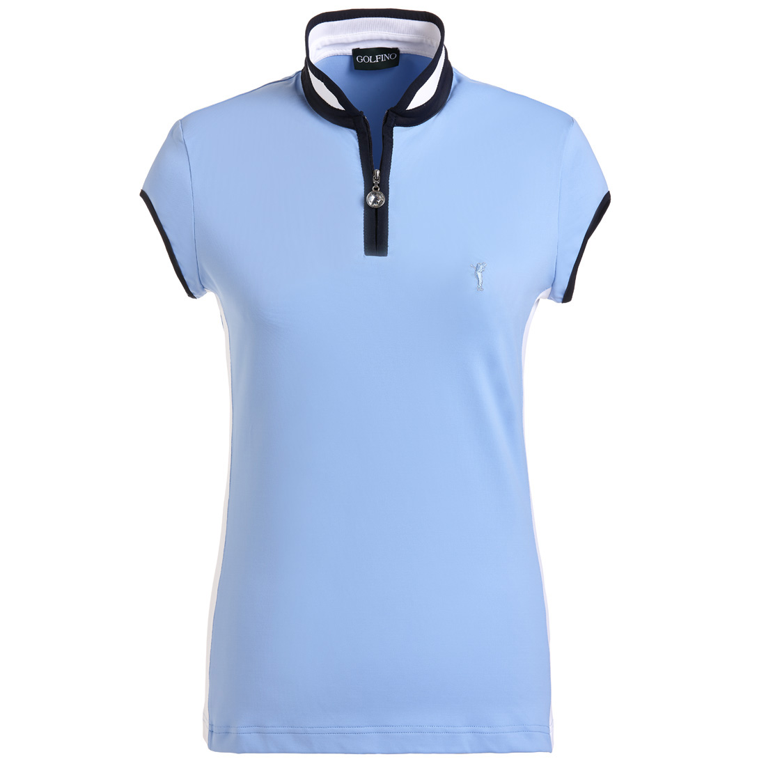 Golfpoloshirt Damen Base-Layer aus Stretch-Jersey